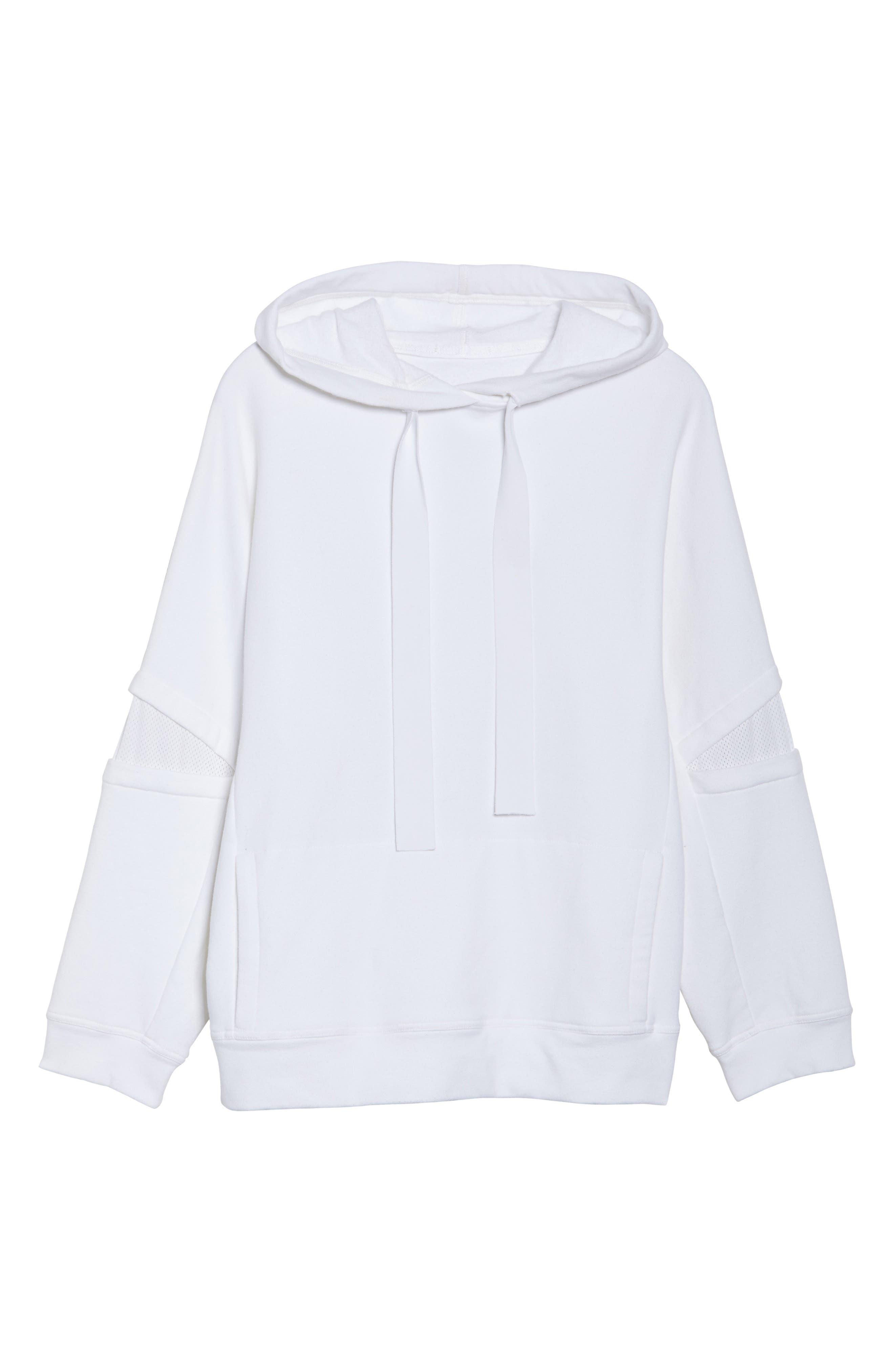 Notch Hoodie Sweatshirt,                             Alternate thumbnail 7, color,                             WHITE