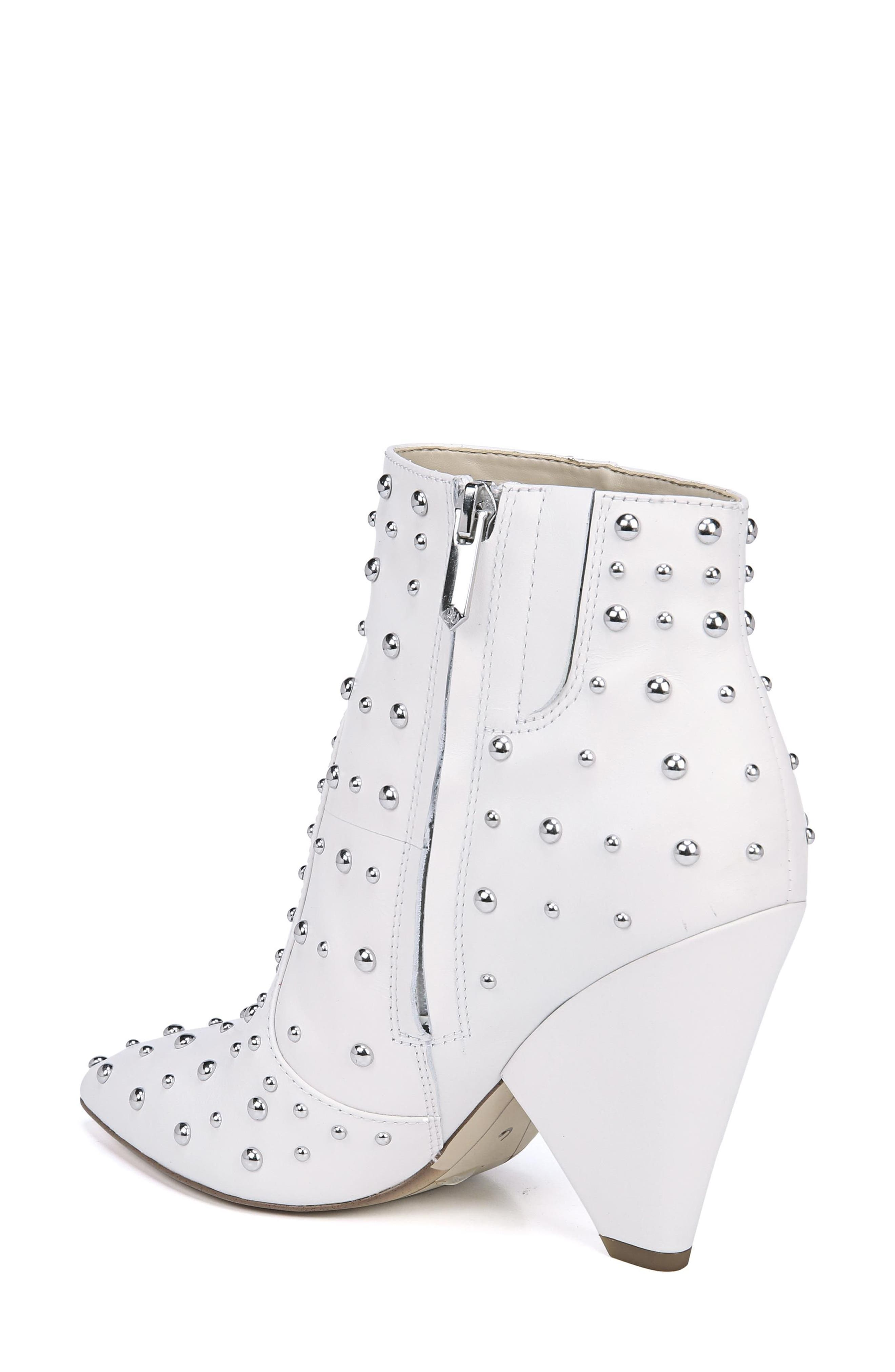 Roya Studded Boot,                             Alternate thumbnail 2, color,                             BRIGHT WHITE LEATHER