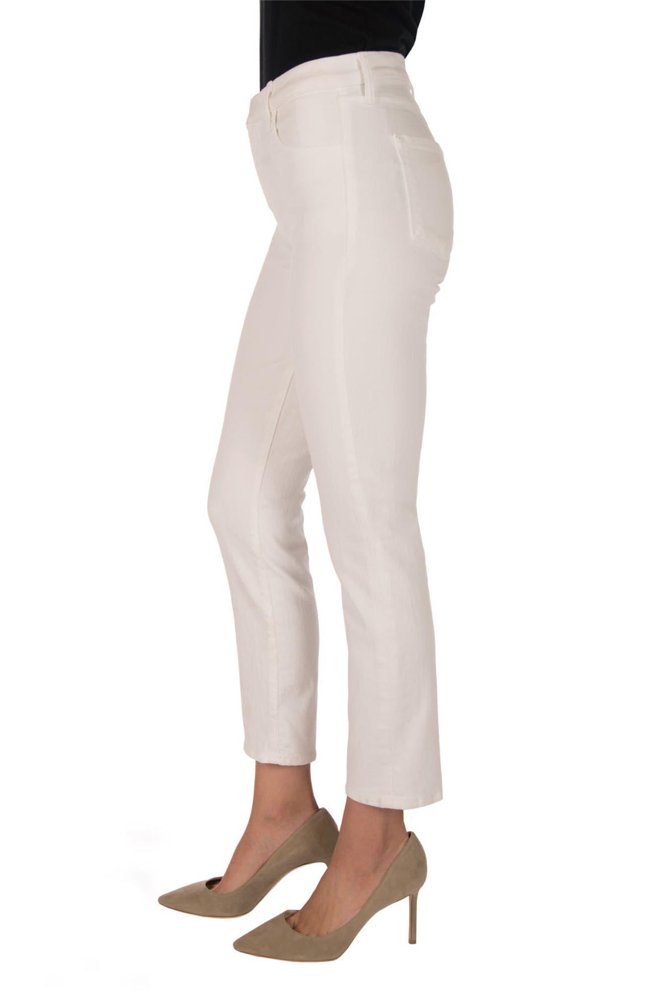Ruby High Waist Crop Jeans,                             Alternate thumbnail 3, color,                             100