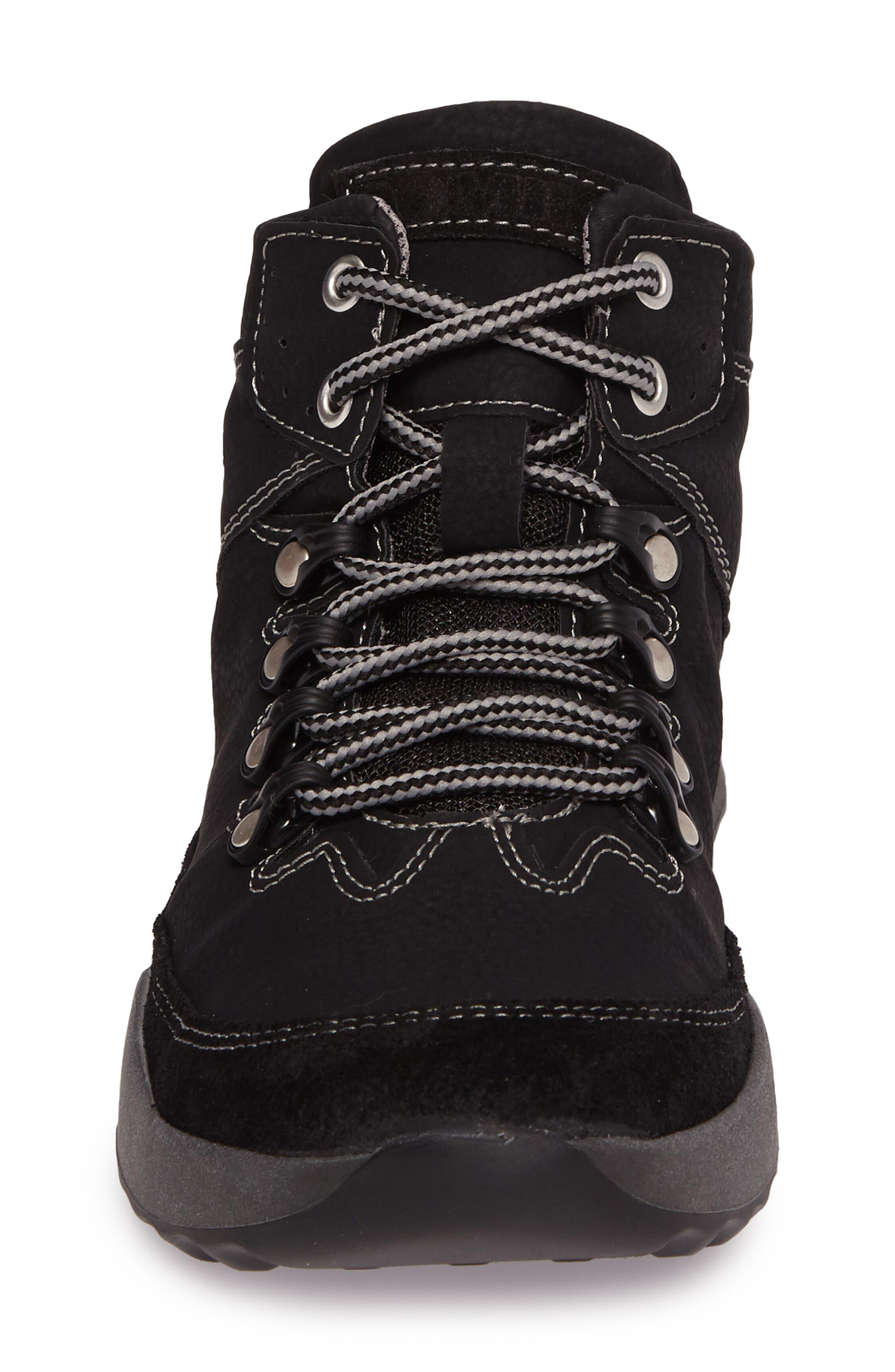 Victoria 05 Waterproof Sneaker,                             Alternate thumbnail 4, color,                             BLACK/ KOMBI LEATHER