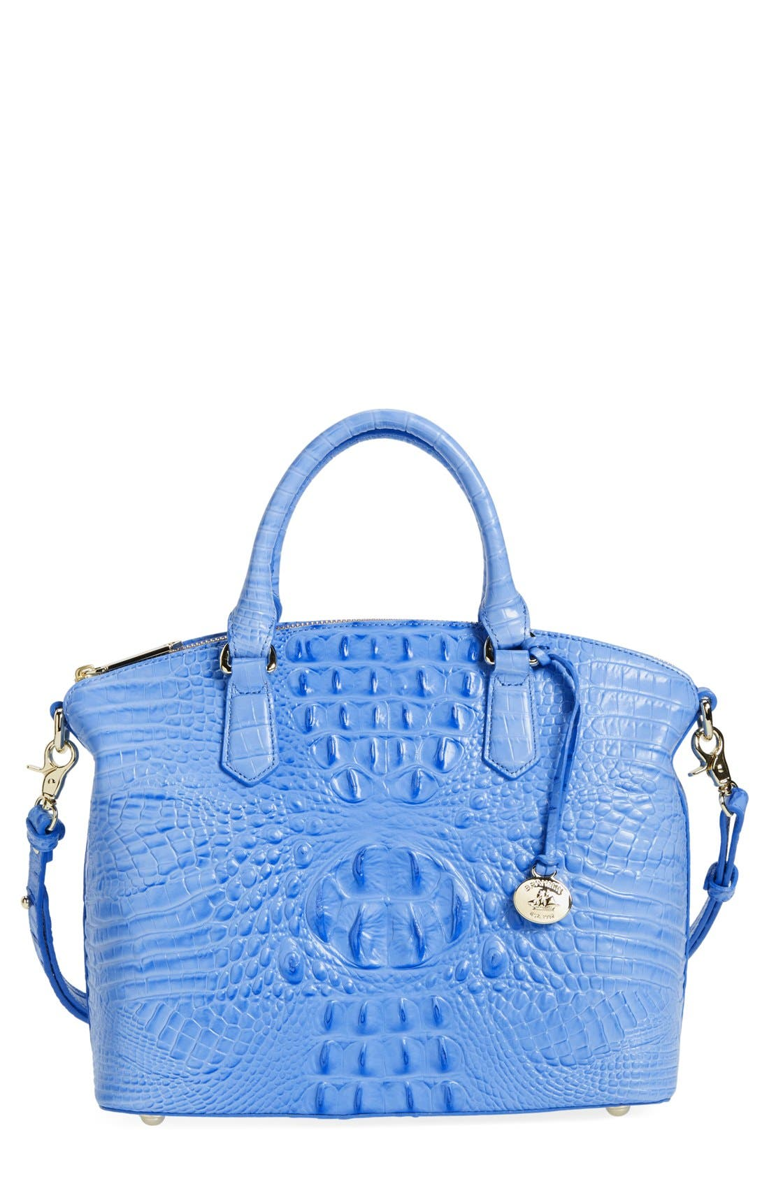 'Medium Duxbury' Croc Embossed Leather Satchel,                             Main thumbnail 17, color,