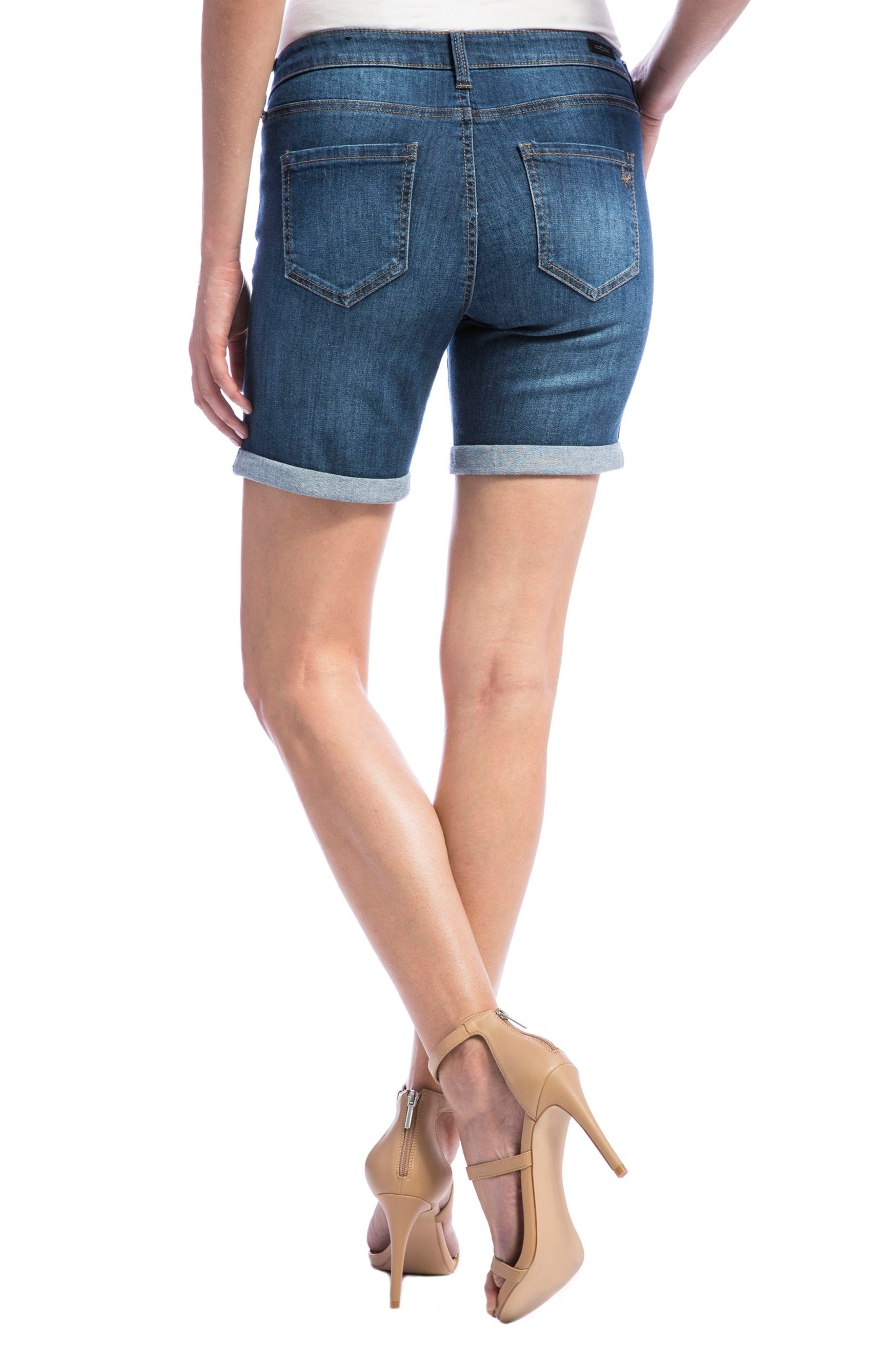 Corine Stretch Denim Shorts,                             Alternate thumbnail 2, color,                             404
