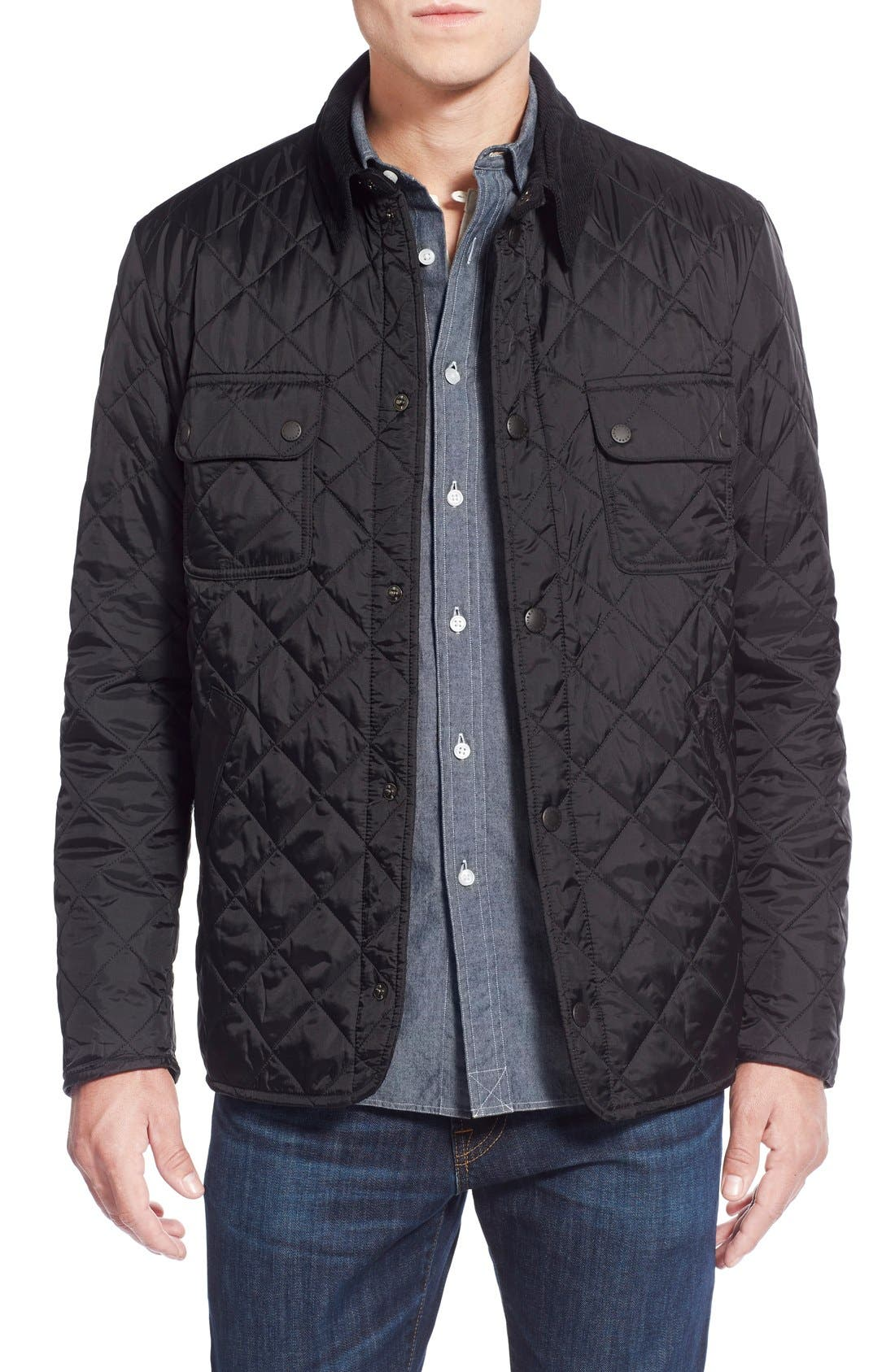 'Tinford' Regular Fit Quilted Jacket,                         Main,                         color, 001
