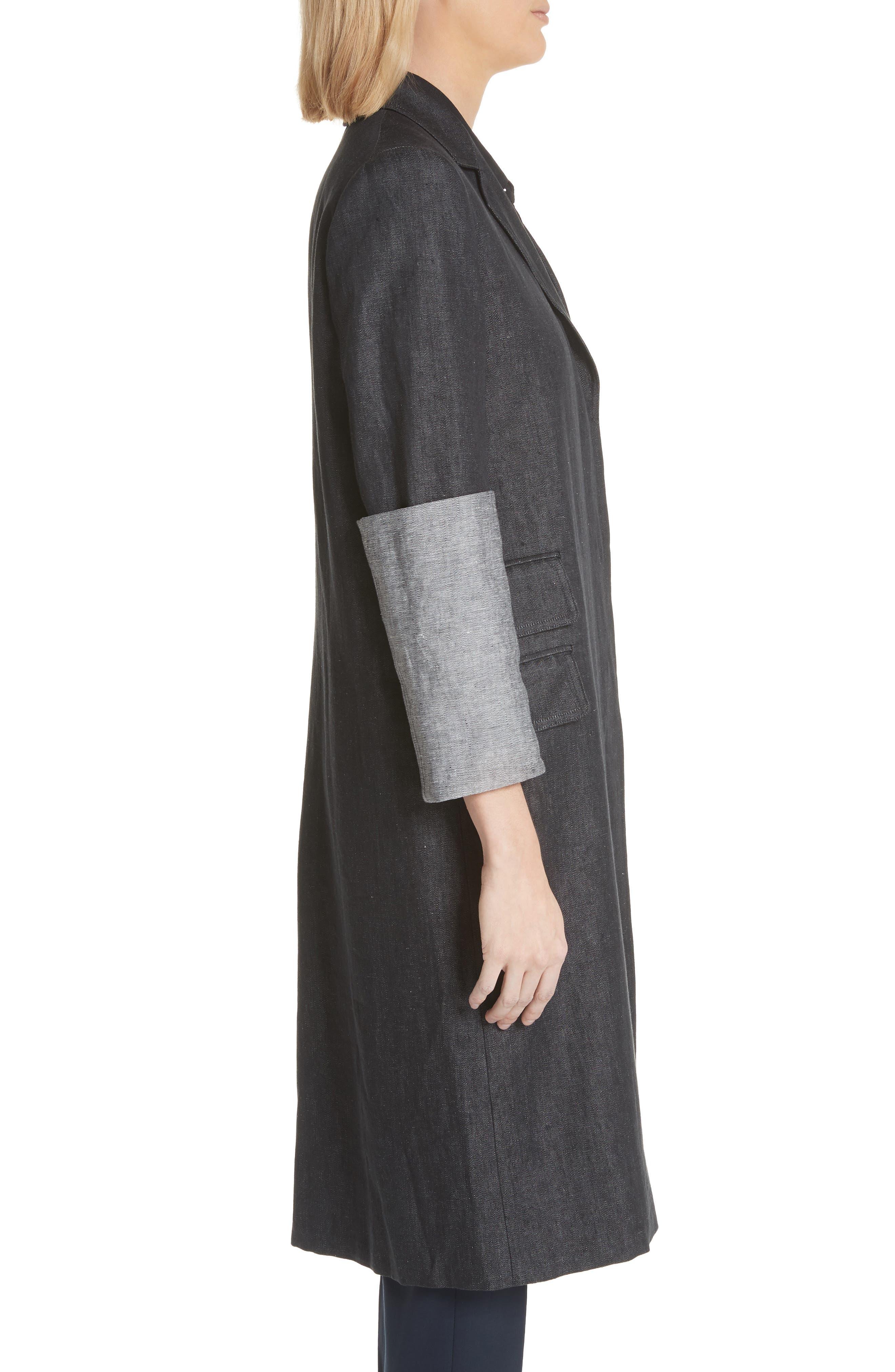 Cannone Linen Coat,                             Alternate thumbnail 3, color,
