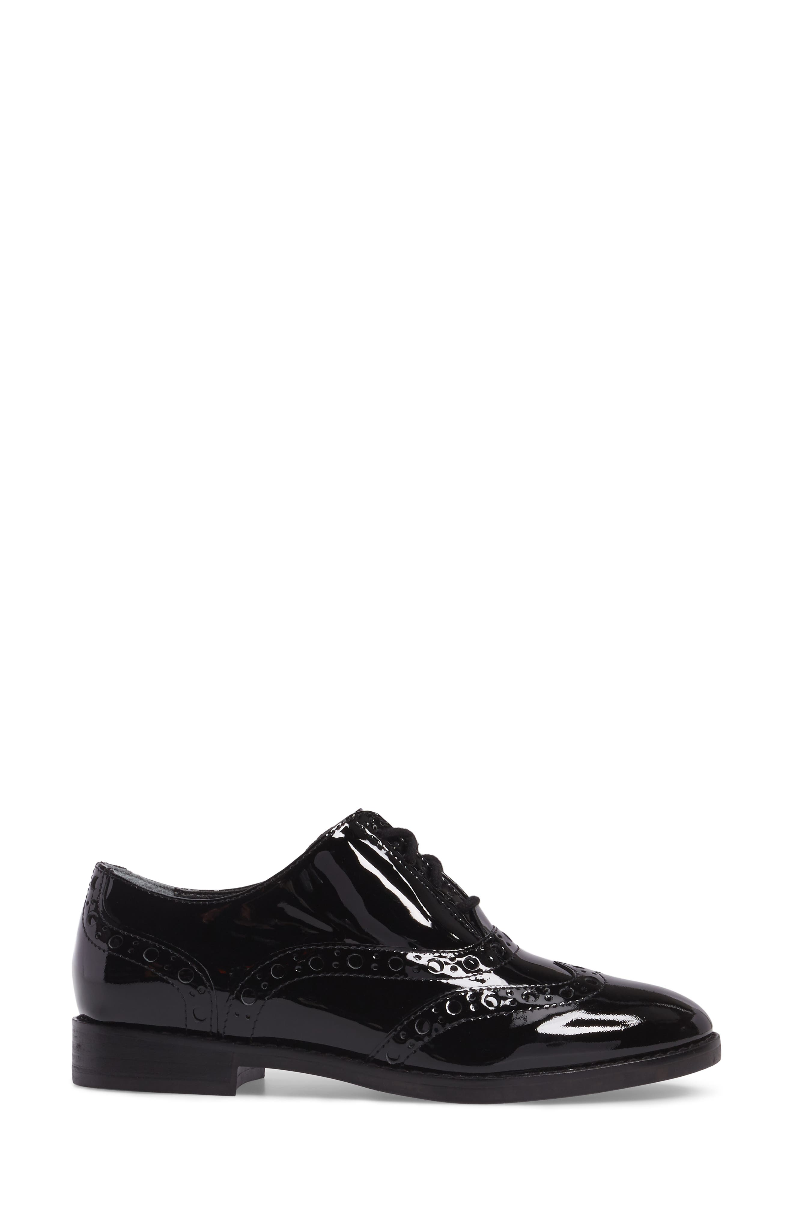 Hadley Wingtip,                             Alternate thumbnail 3, color,                             BLACK PATENT LEATHER