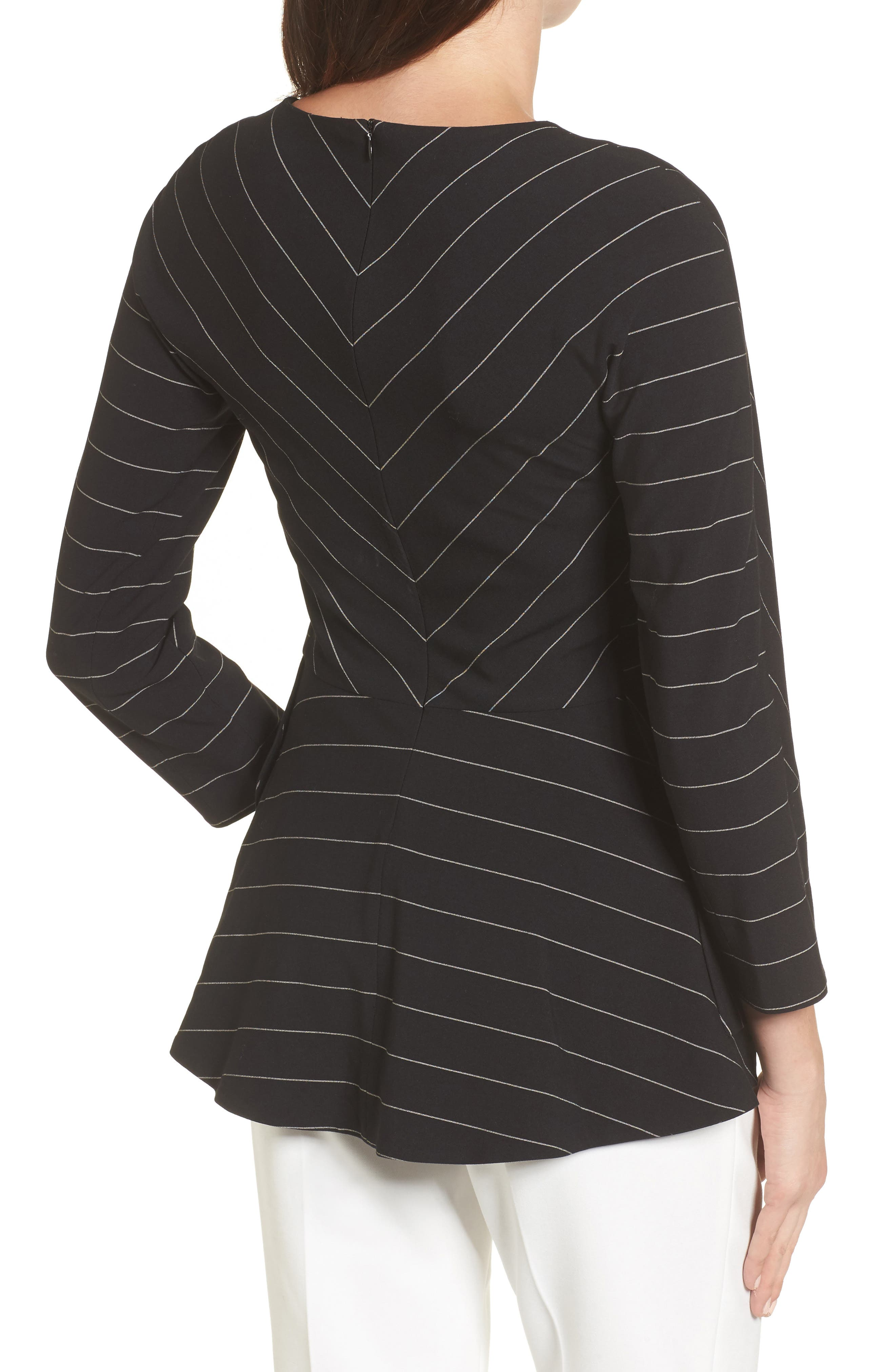 Pinstripe Blouse,                             Alternate thumbnail 2, color,                             001