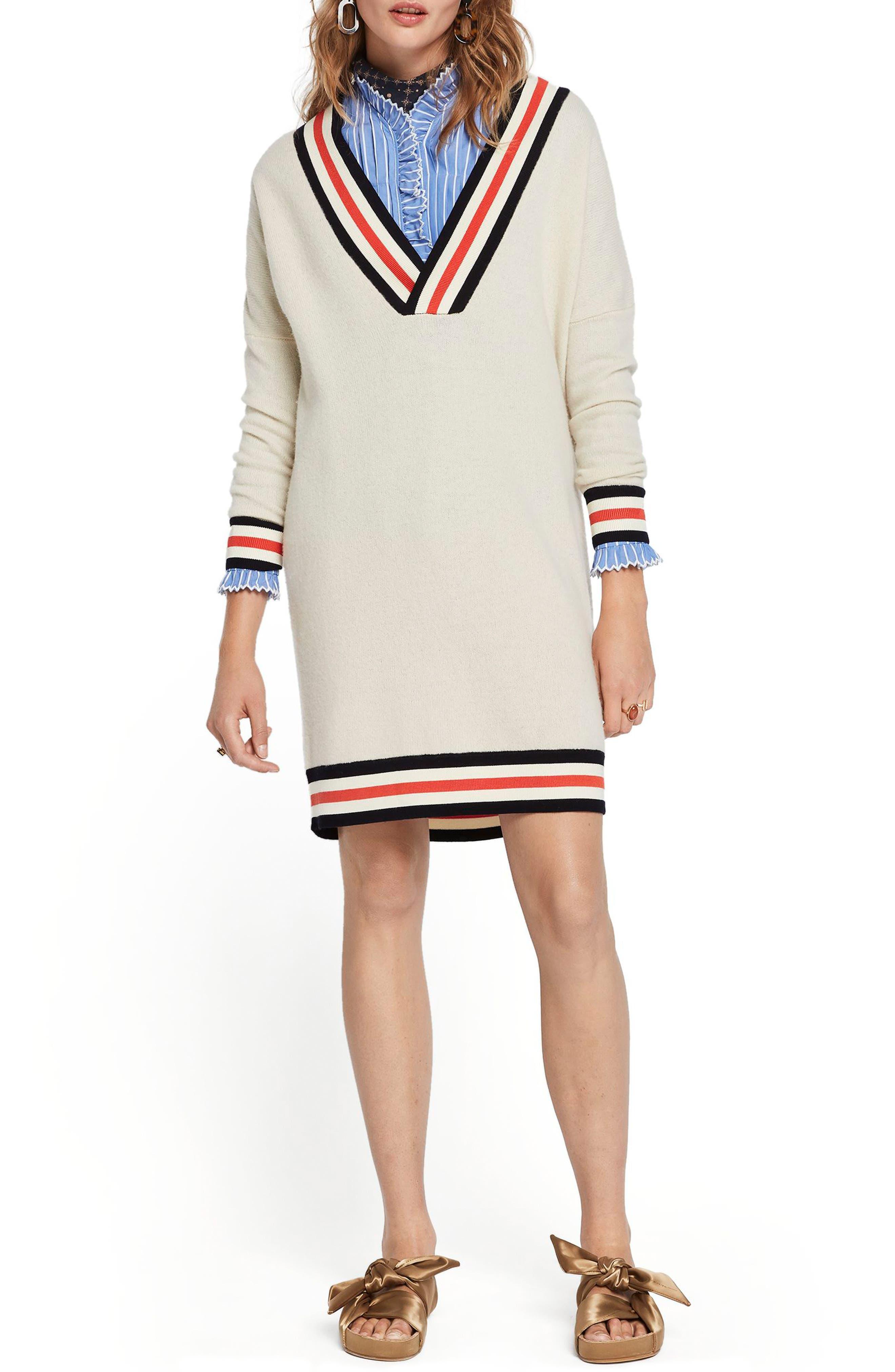 Scotch & Soda Luxury Lambswool Longline Sweater, Beige