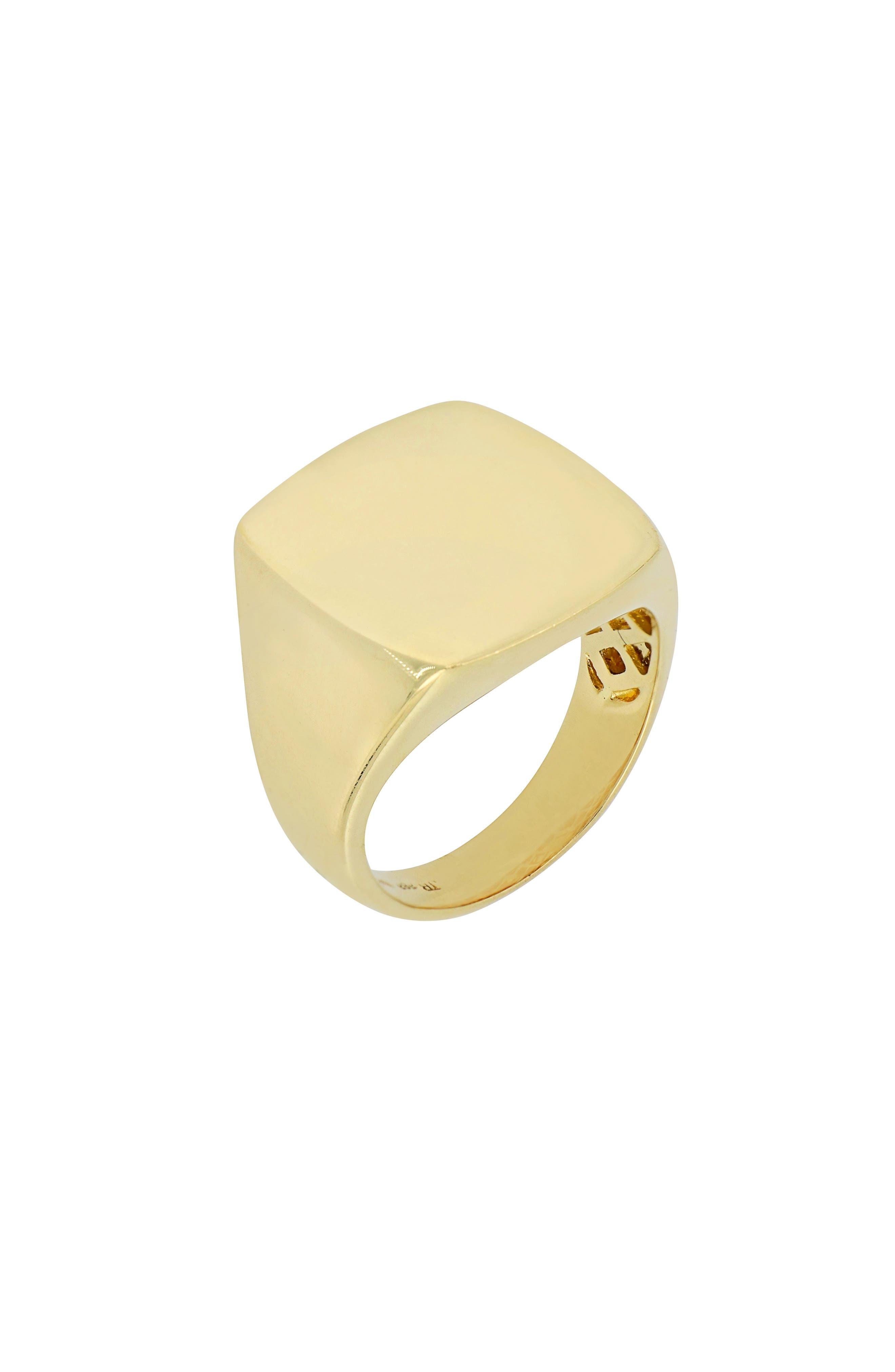 Square Signet Ring,                             Main thumbnail 1, color,                             710
