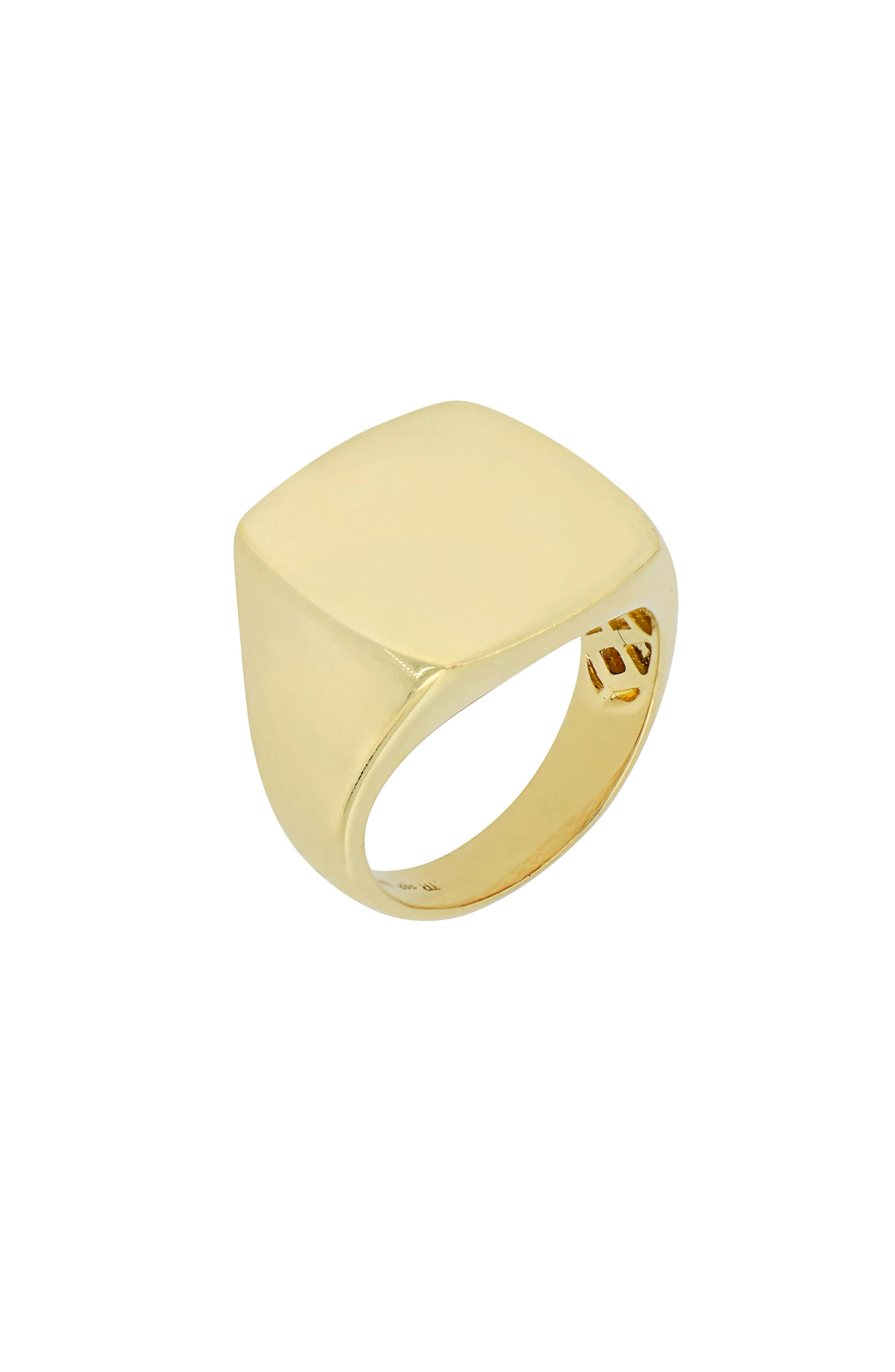 Square Signet Ring,                         Main,                         color, 710