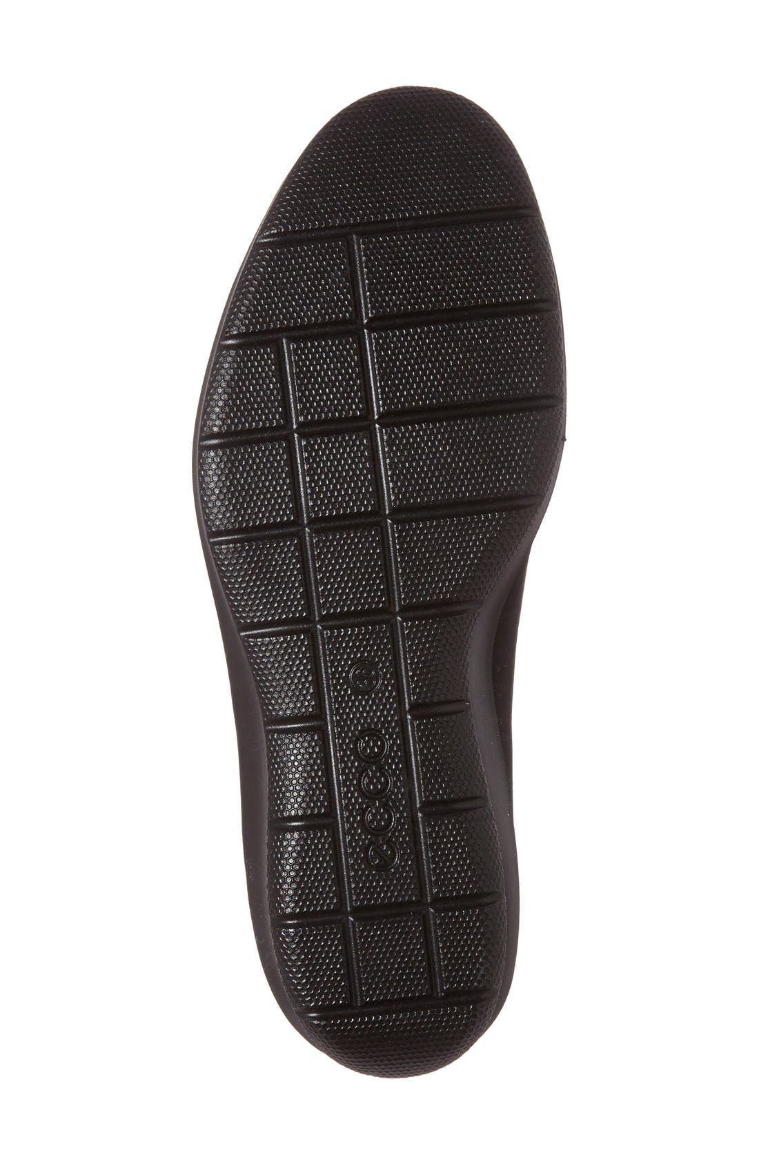 'Felicia GTX' Waterproof Wedge Loafer,                             Alternate thumbnail 3, color,                             BLACK GORE FABRIC