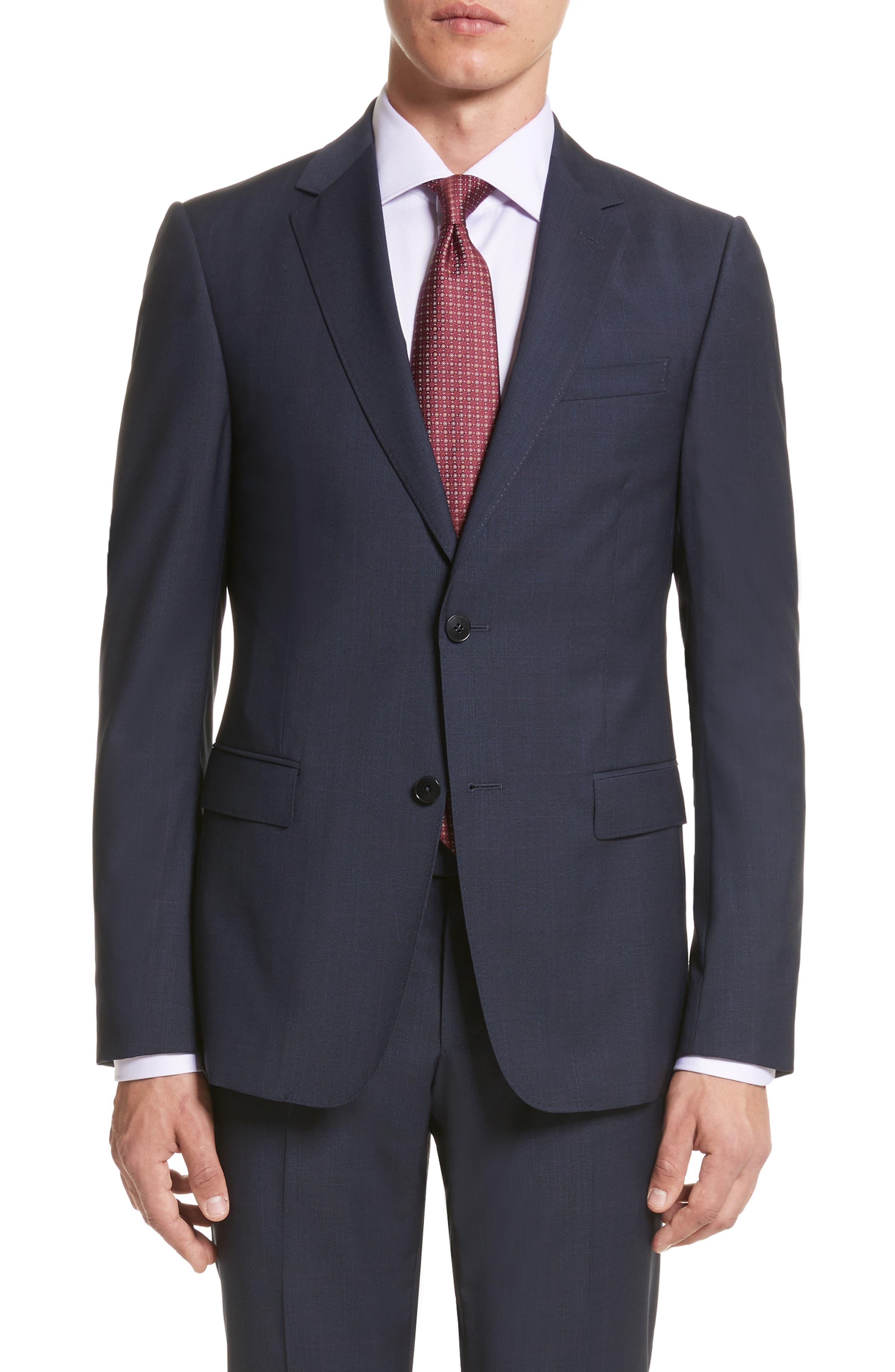 Classic Fit Check Wool Suit,                             Alternate thumbnail 5, color,                             416