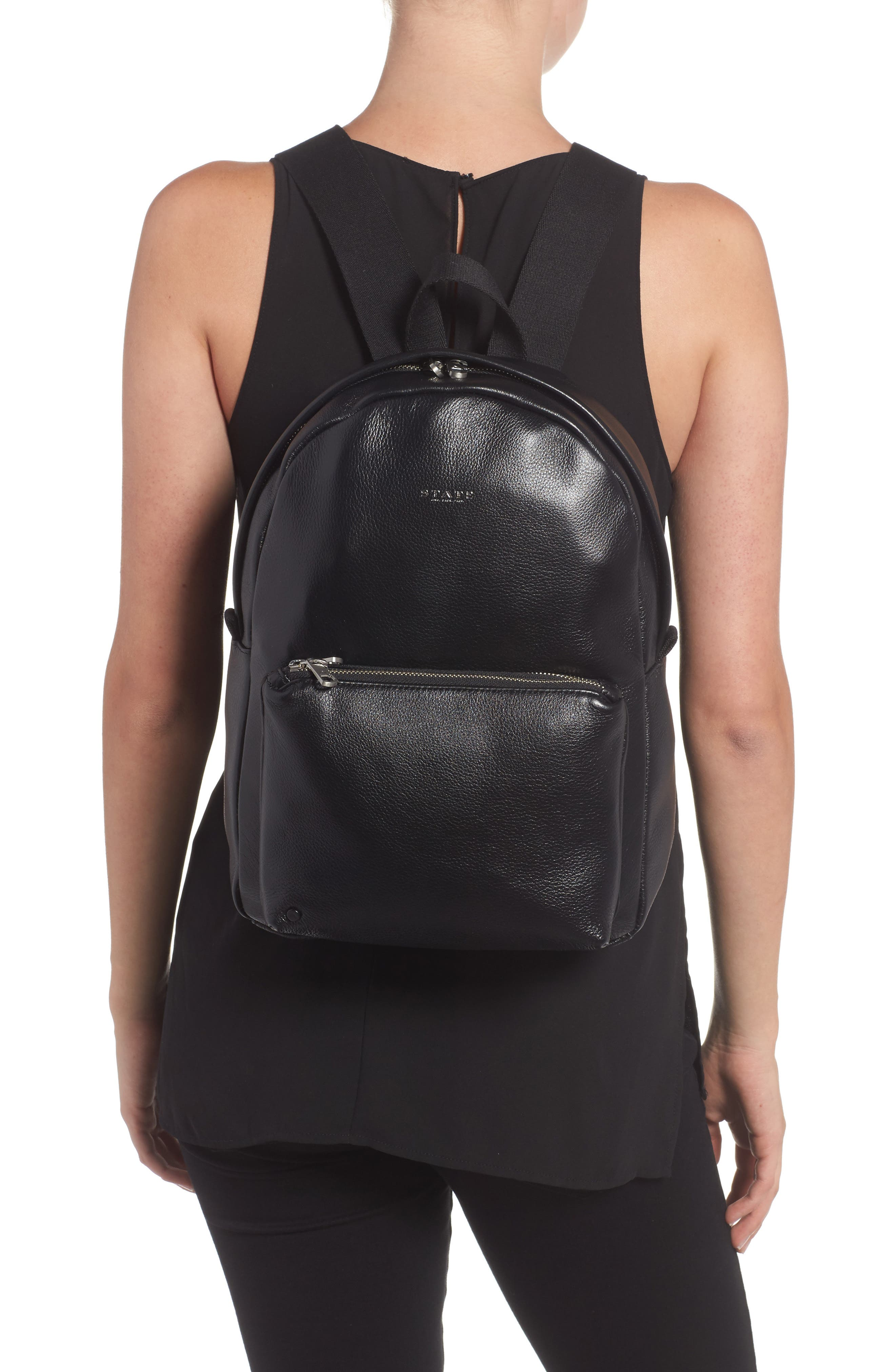 Greenwood Mini Lorimer Leather Backpack,                             Alternate thumbnail 2, color,                             001