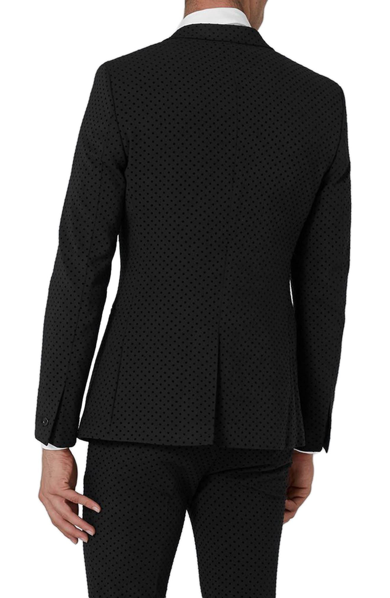 Dotted Ultra Skinny Fit Suit Jacket,                             Alternate thumbnail 2, color,                             001