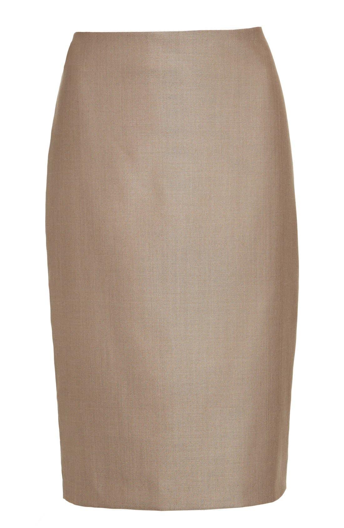Wool Blend Pencil Skirt,                             Alternate thumbnail 8, color,                             220