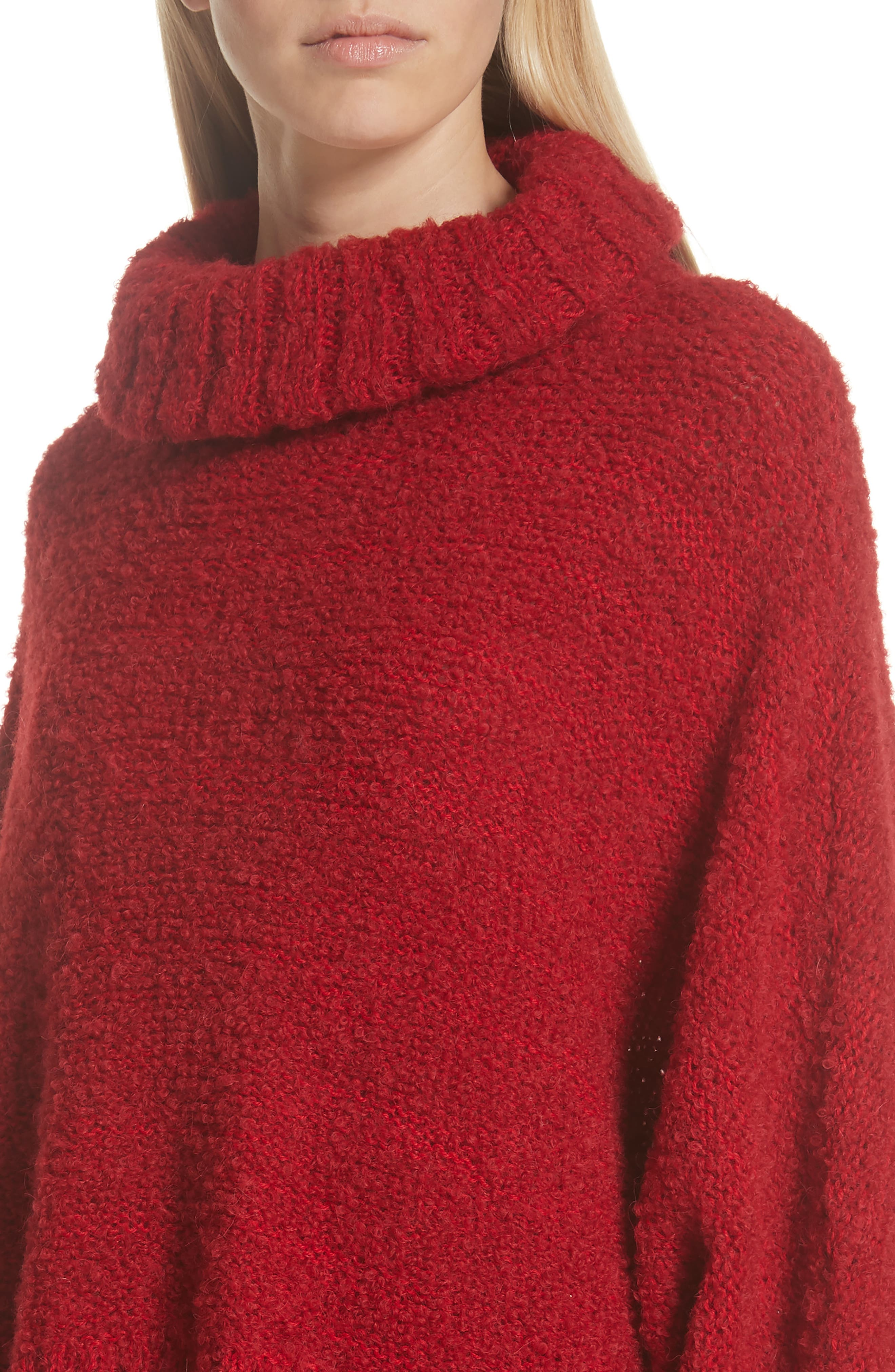 Alpaca & Wool Blend Swing Turtleneck,                             Alternate thumbnail 4, color,                             600