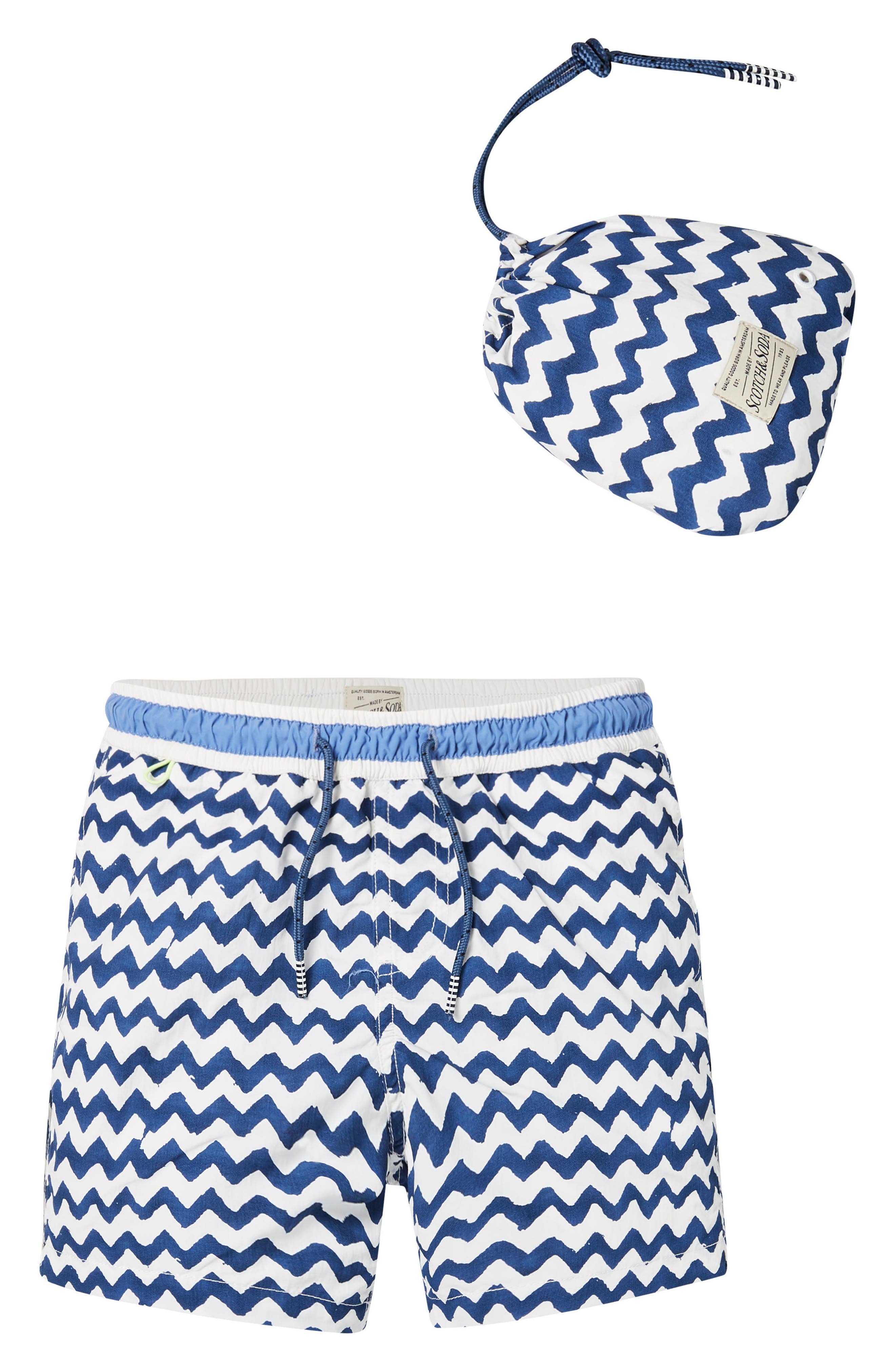 Allover Print Swim Trunks,                         Main,                         color, 400