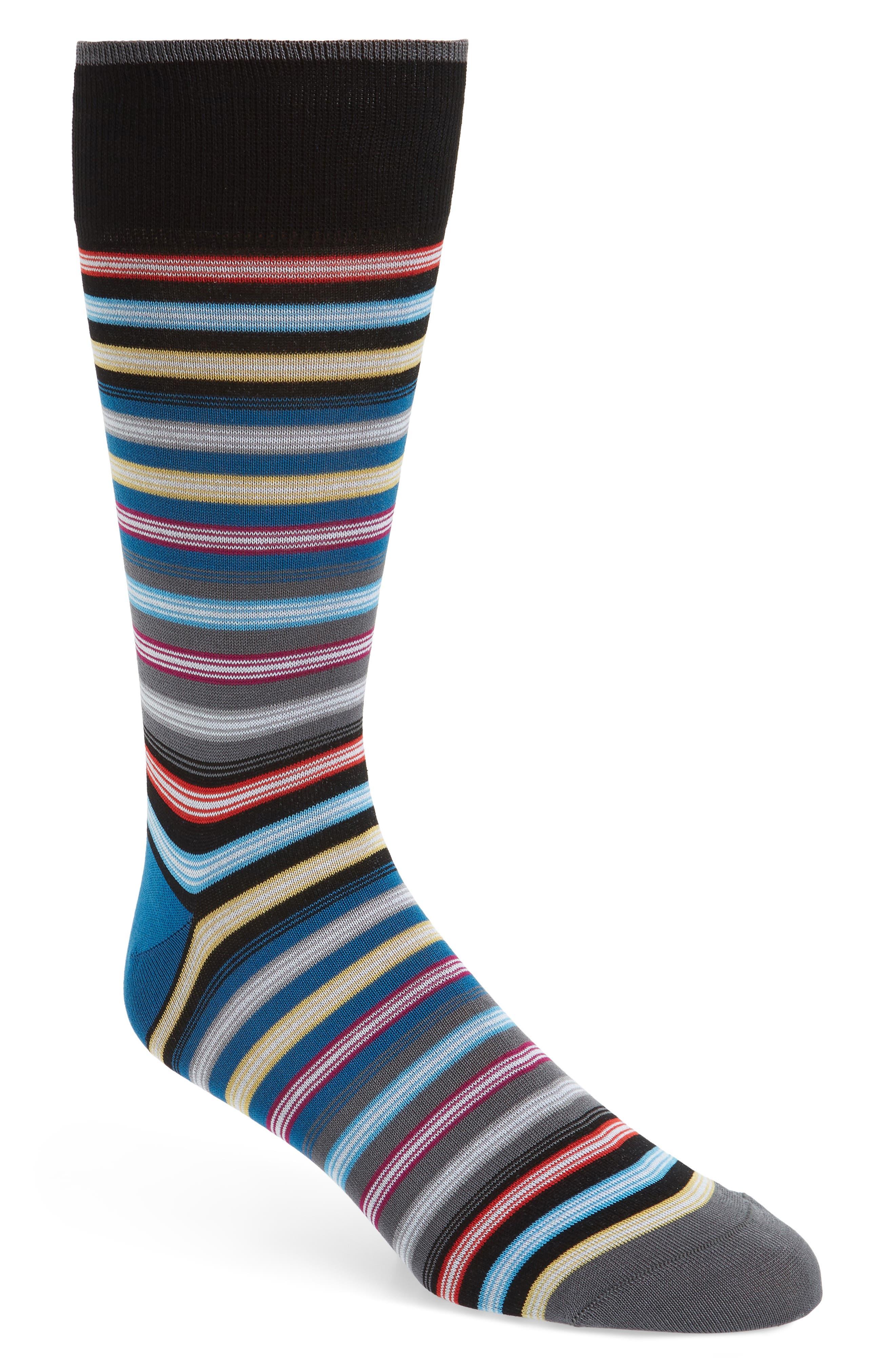 BUGATCHI Cotton Blend Socks, Main, color, 030