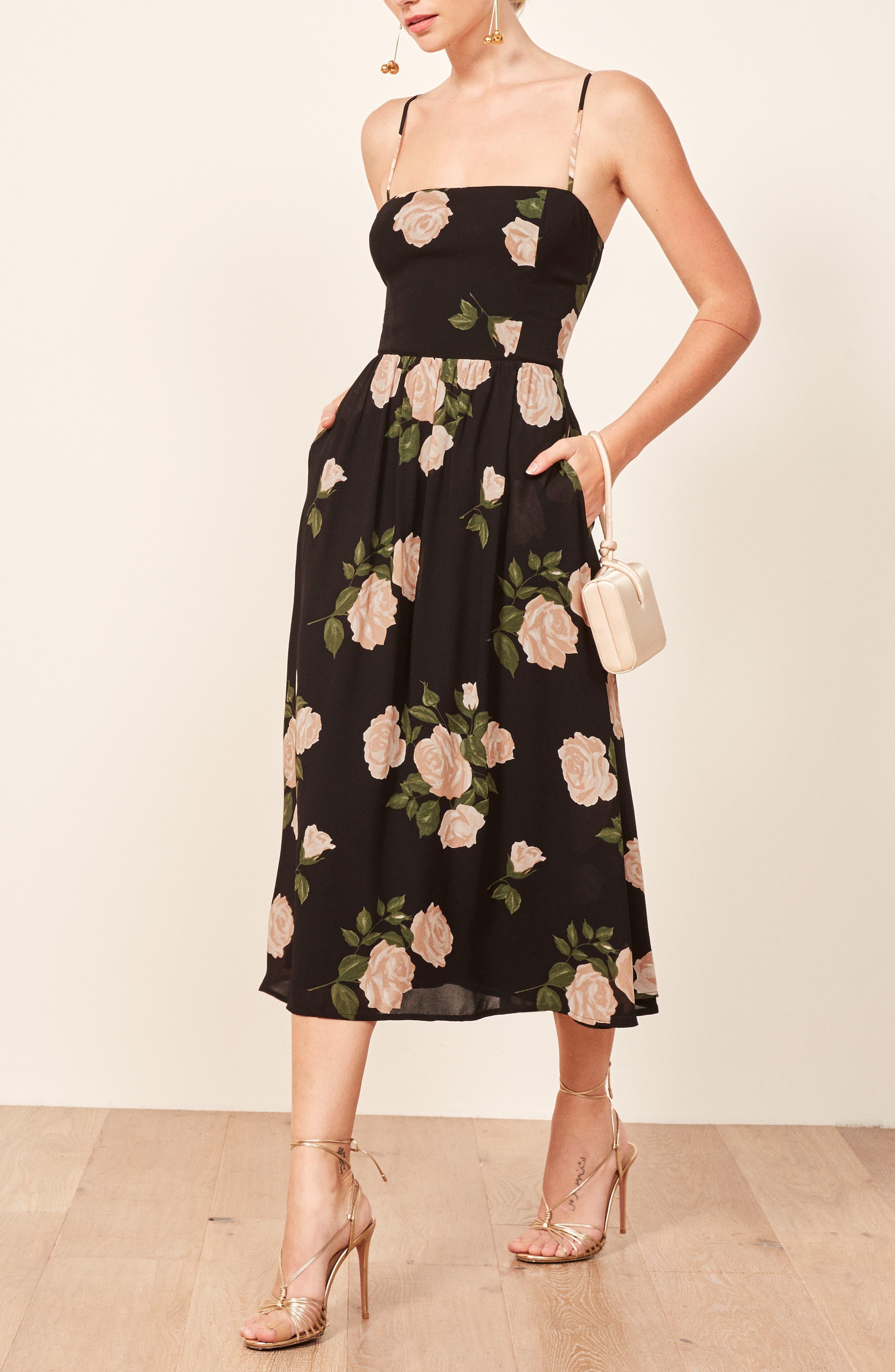 Rosehip Fit & Flare Dress,                             Alternate thumbnail 4, color,                             VENUS
