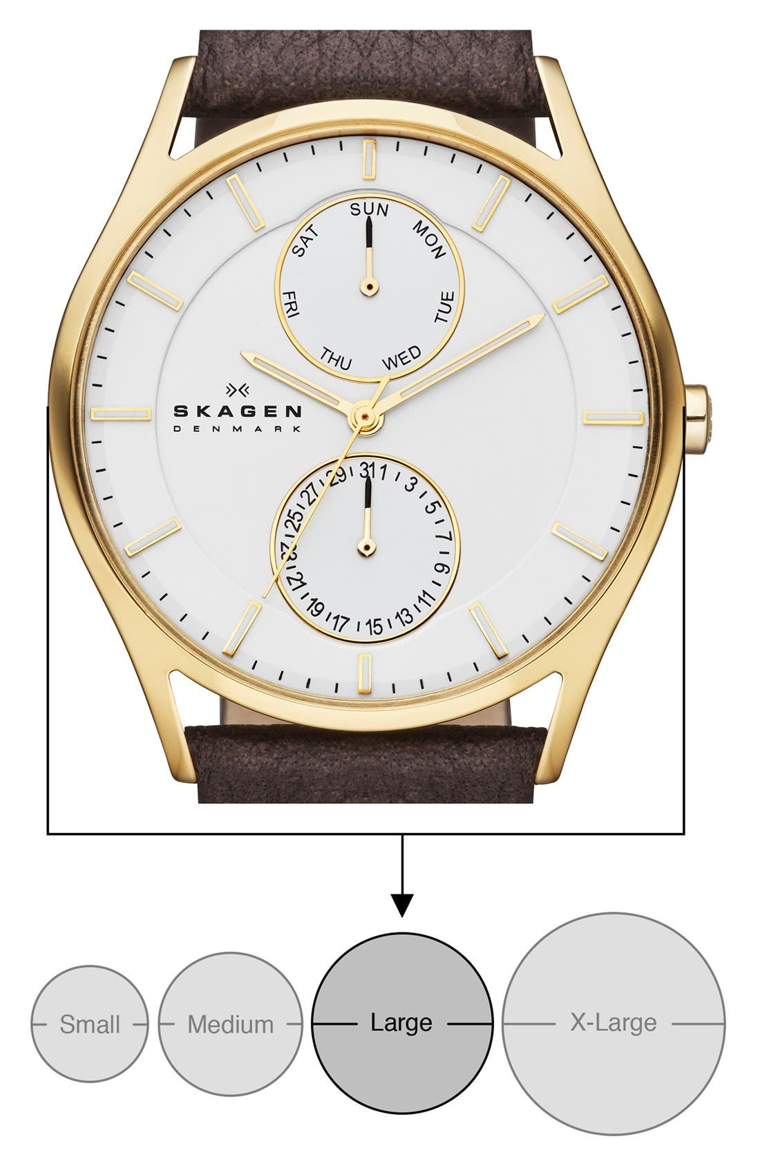 'Holst' Multifunction Leather Strap Watch, 40mm,                             Alternate thumbnail 16, color,