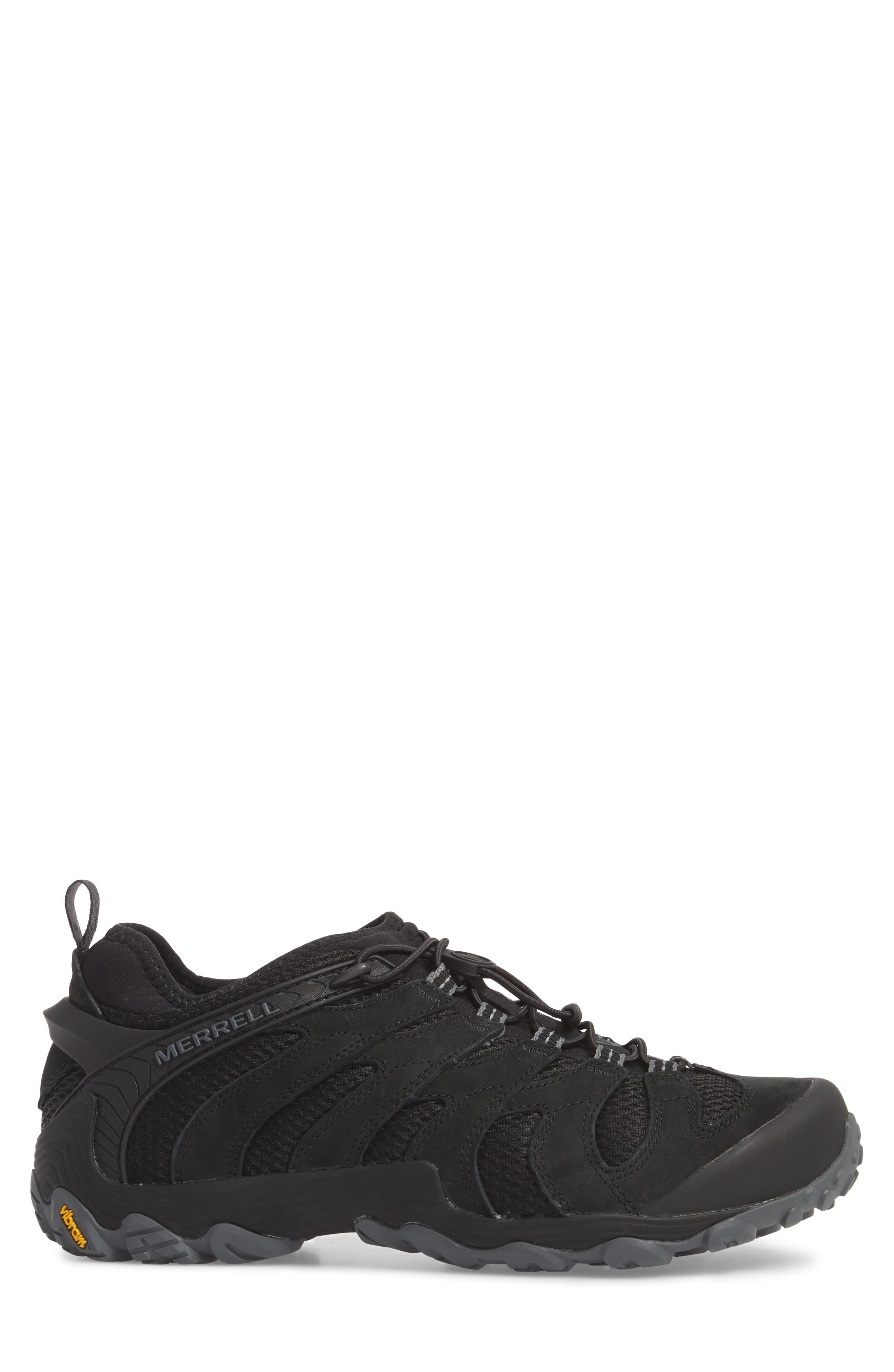 MERRELL,                             Chameleon 7 Stretch Hiking Shoe,                             Alternate thumbnail 3, color,                             BLACK