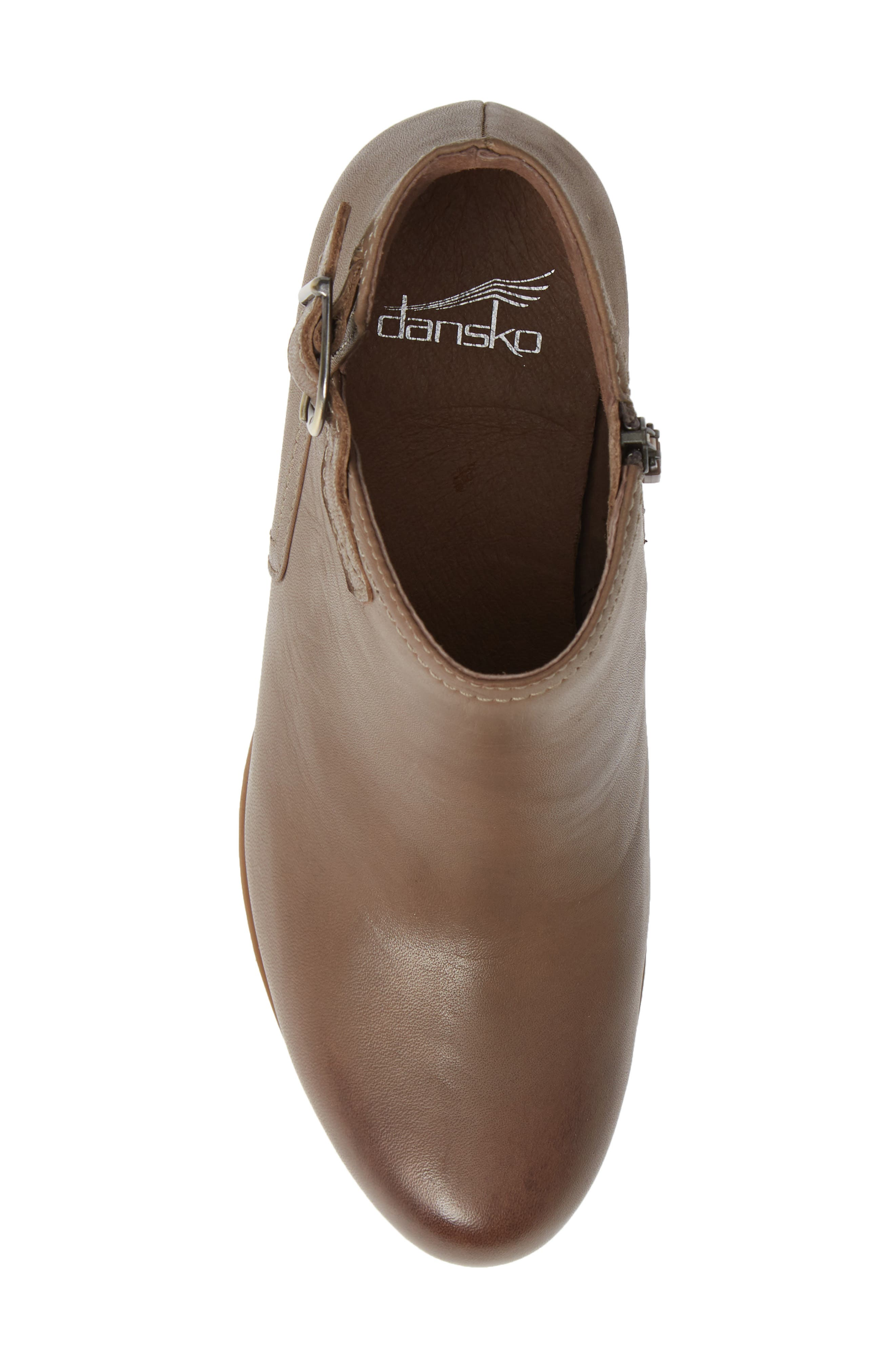 Henley Bootie,                             Alternate thumbnail 5, color,                             TAUPE LEATHER