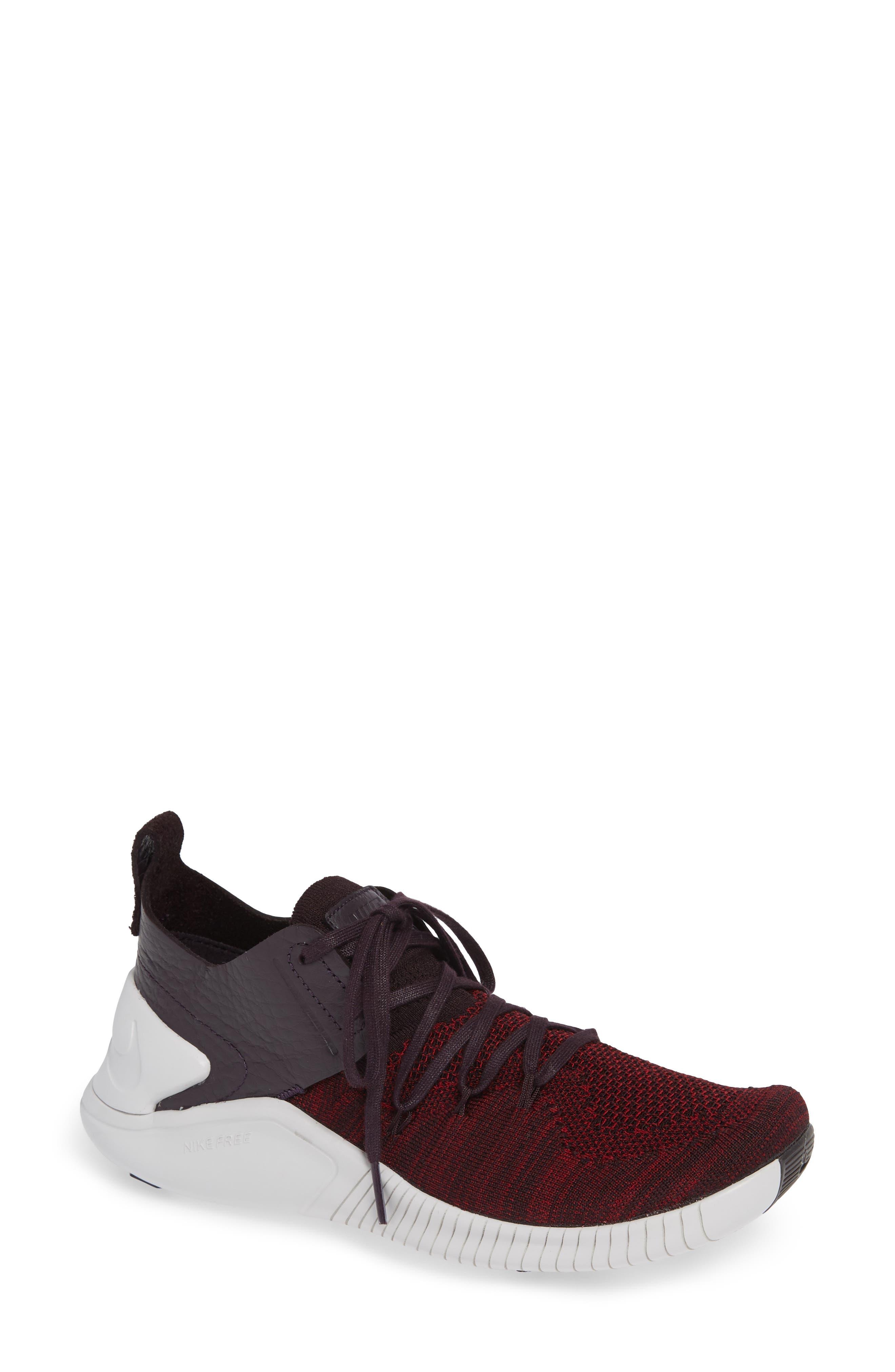 Free TR Flyknit 3 Training Shoe,                         Main,                         color, BURGUNDY ASH/ VAST GREY
