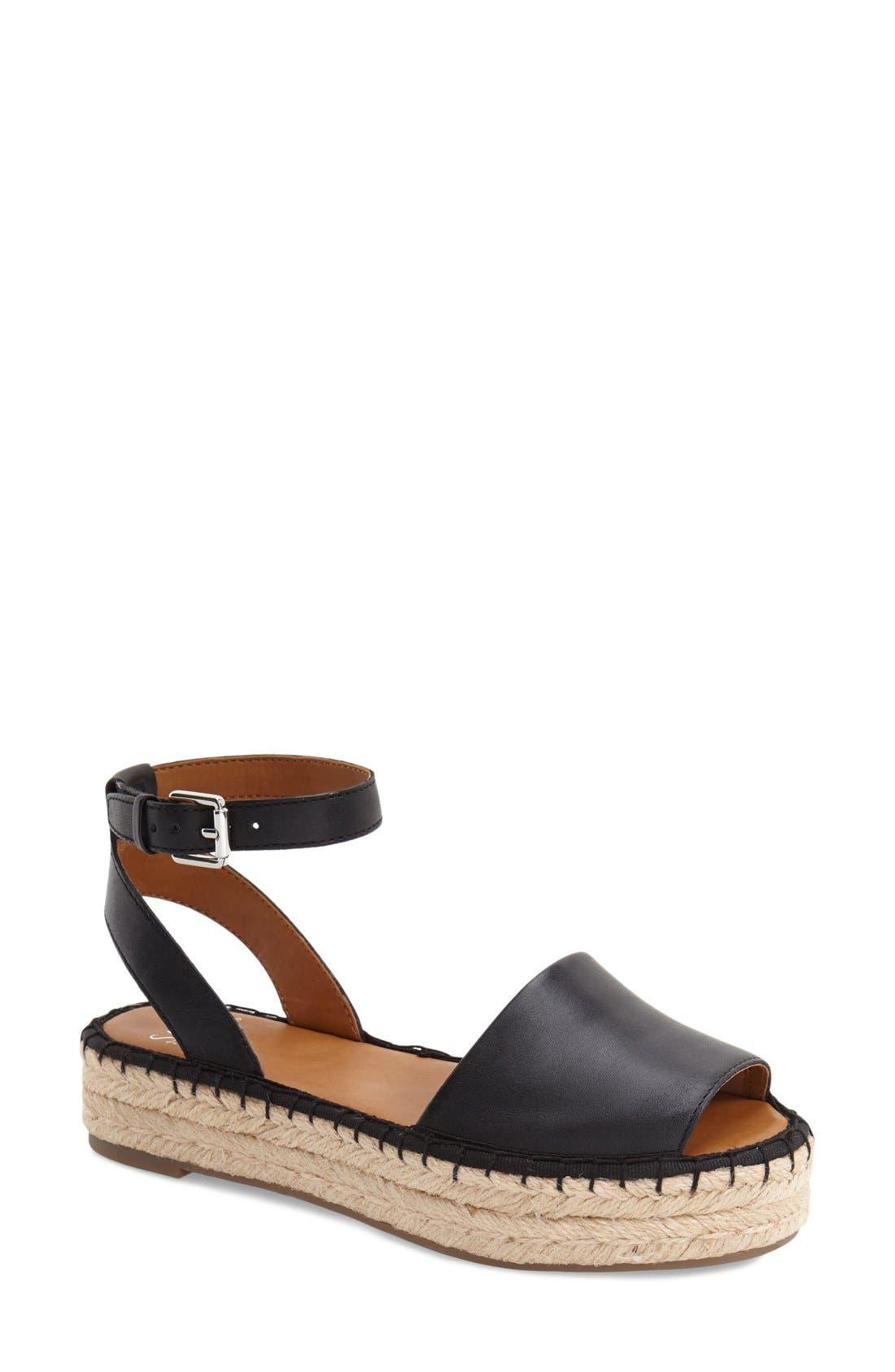 'Ravenna' Espadrille Platform Sandal, Main, color, 003