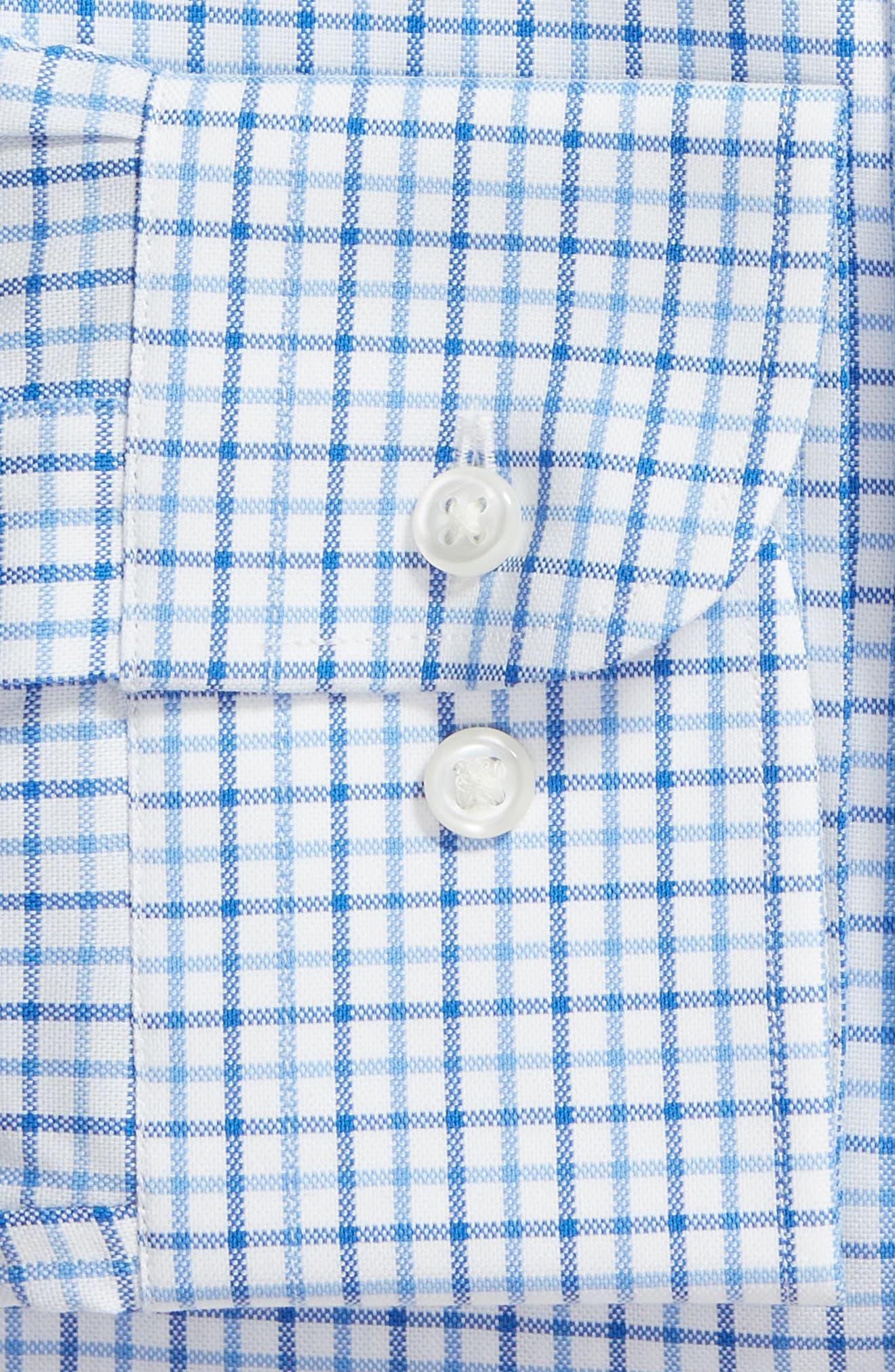 NORDSTROM MEN'S SHOP,                             Tech-Smart Traditional Fit Check Stretch Dress Shirt,                             Alternate thumbnail 6, color,                             BLUE VICTORIA