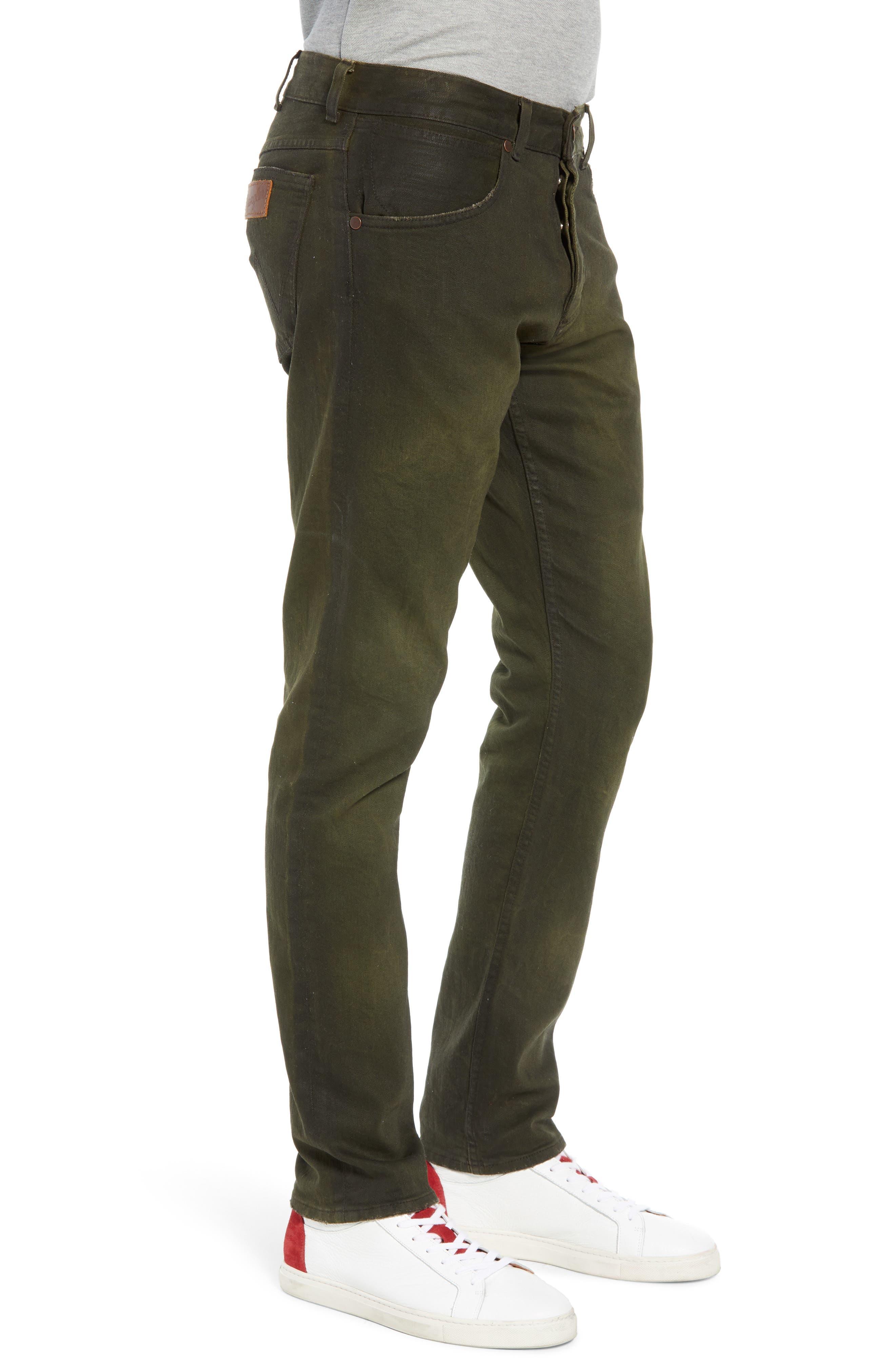 Larston Slim Fit Jeans,                             Alternate thumbnail 3, color,                             ROVER GREEN
