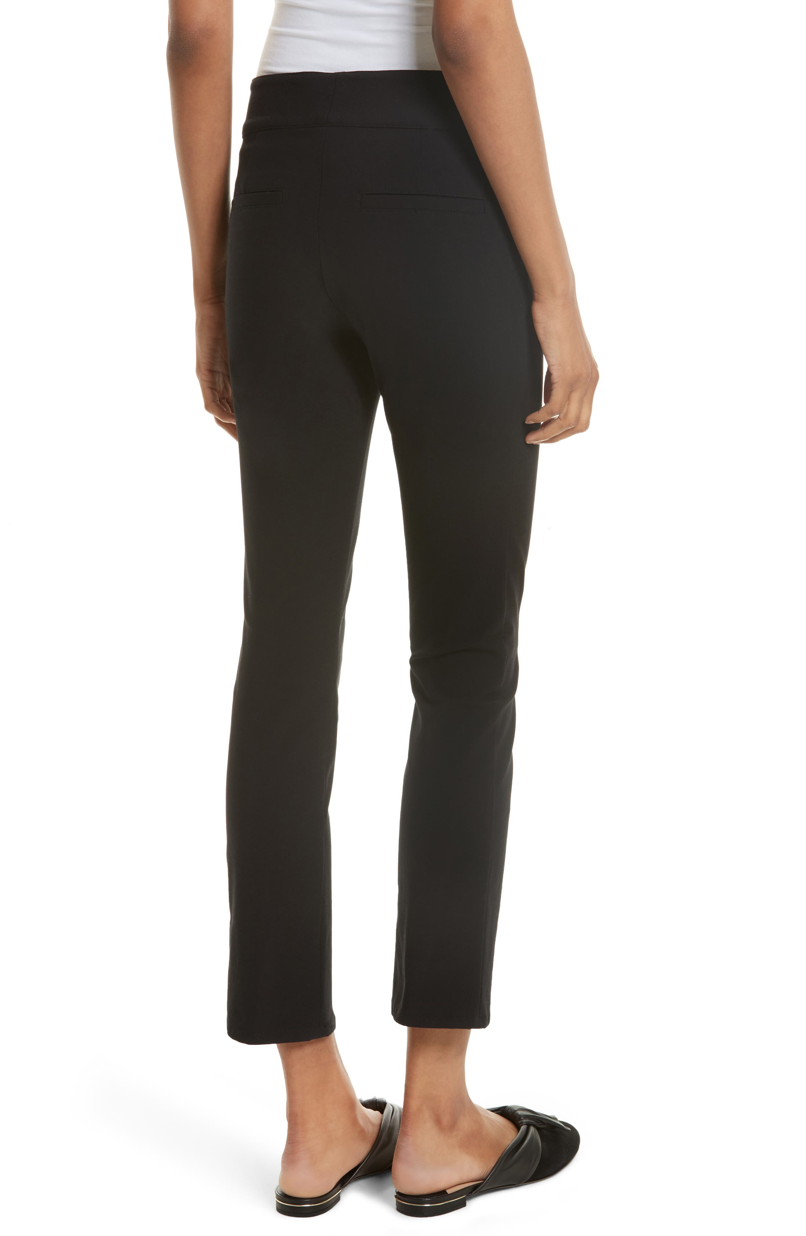 Adelaide Zipper Detail Crop Pants,                             Alternate thumbnail 2, color,                             001