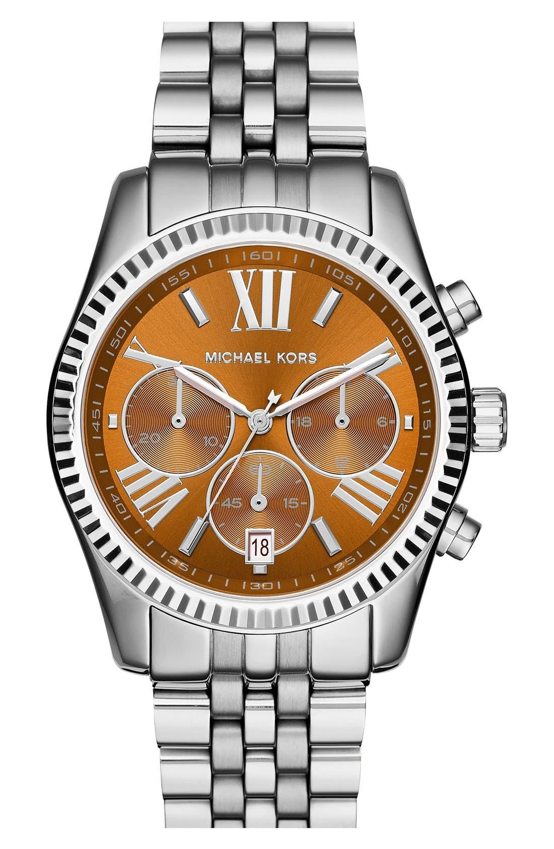 'Lexington' Chronograph Bracelet Watch, 38mm,                             Main thumbnail 6, color,