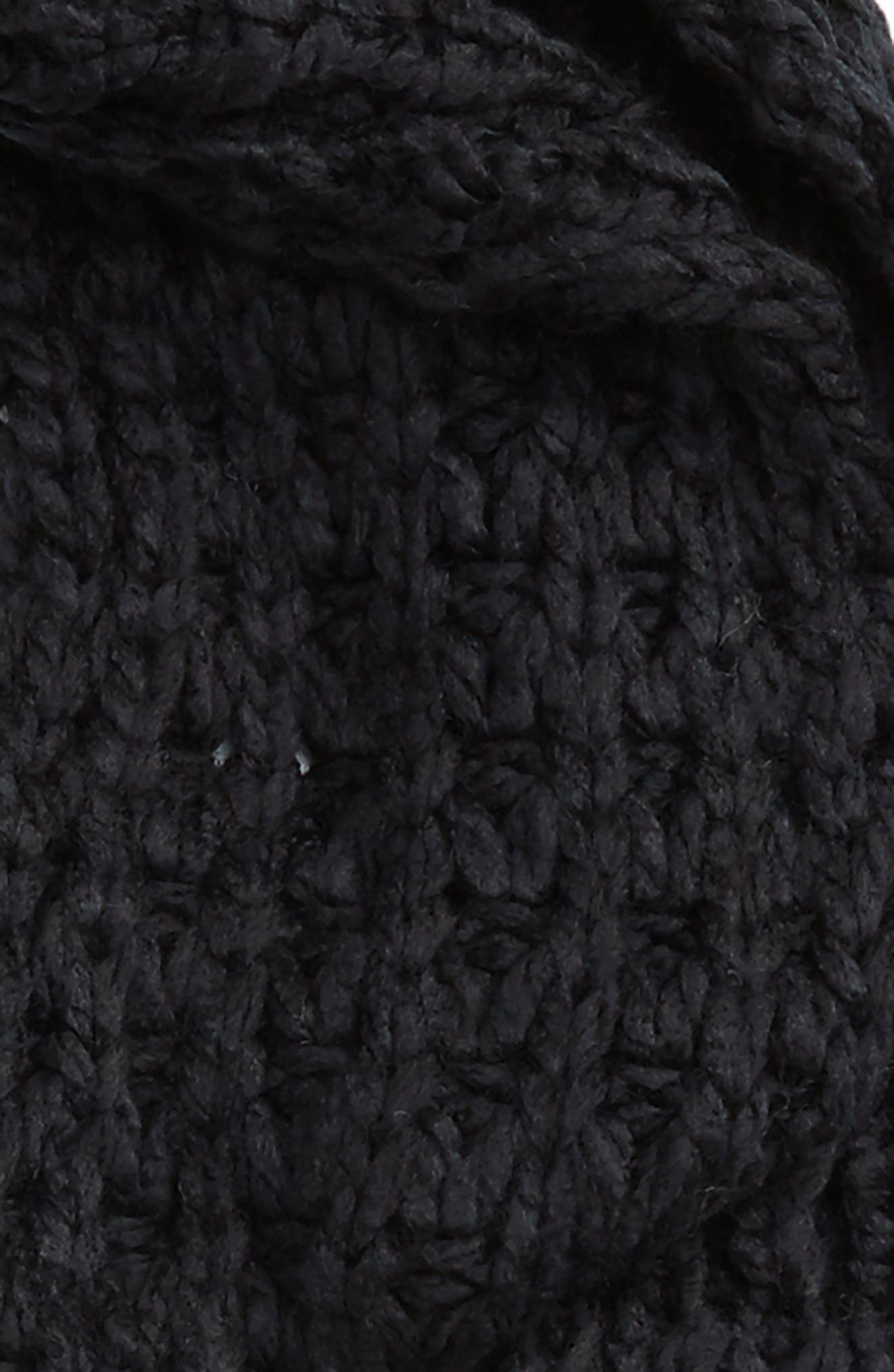 Chunky Knit Skinny Scarf,                             Alternate thumbnail 3, color,                             001
