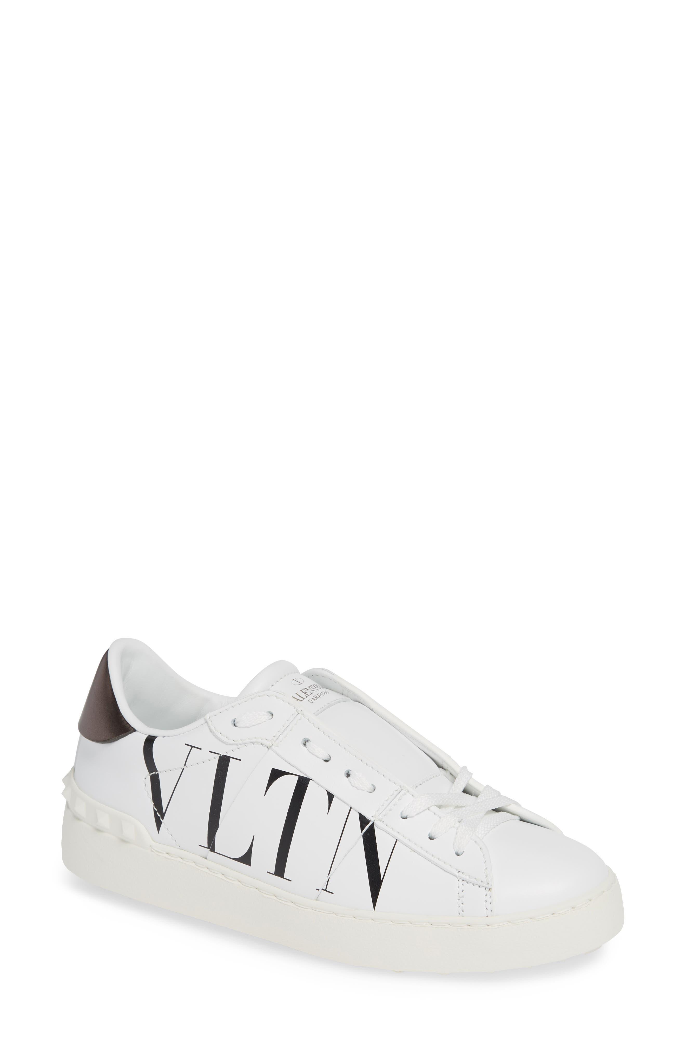 VALENTINO GARAVANI,                             VLTN Logo Low Top Sneaker,                             Main thumbnail 1, color,                             102