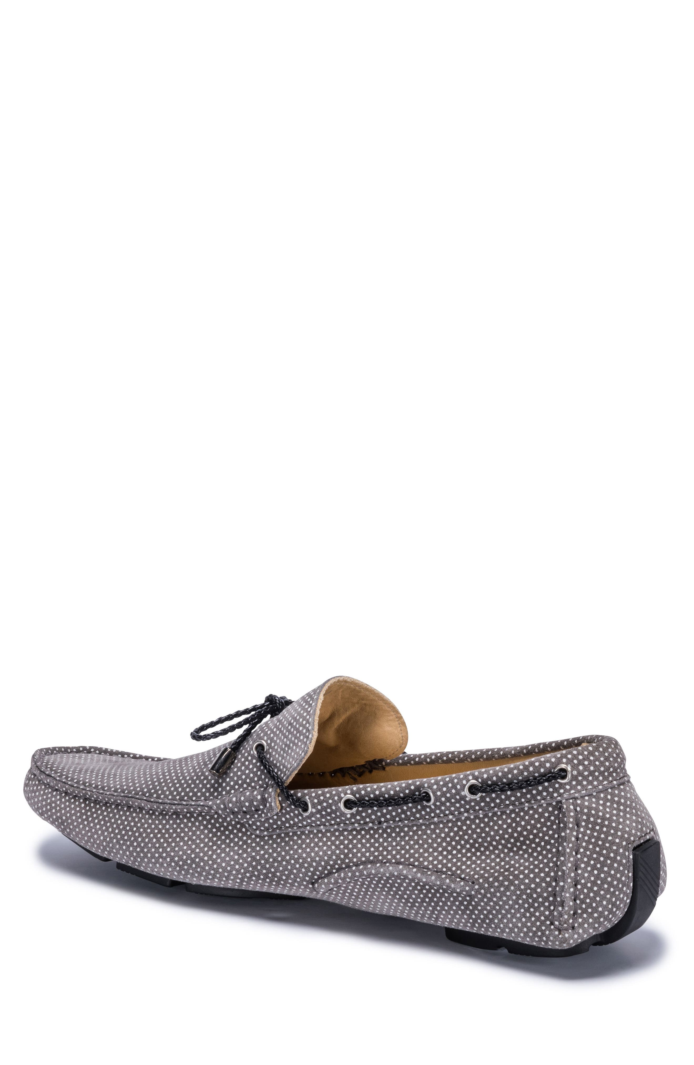 Sanremo Patterned Driving Loafer,                             Alternate thumbnail 2, color,                             GREY SUEDE