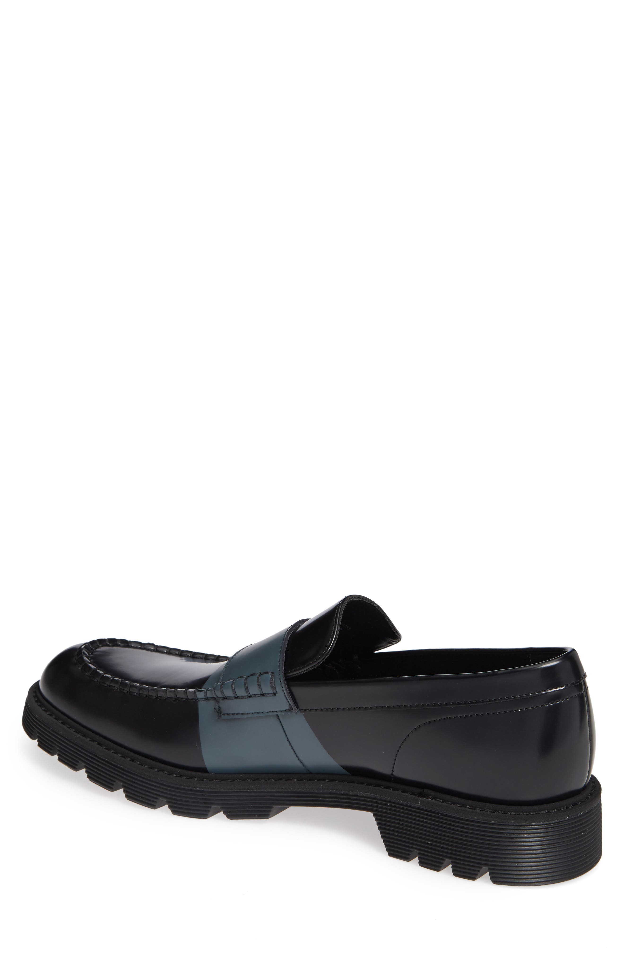 Florentino Penny Loafer,                             Alternate thumbnail 2, color,                             BLACK LEATHER