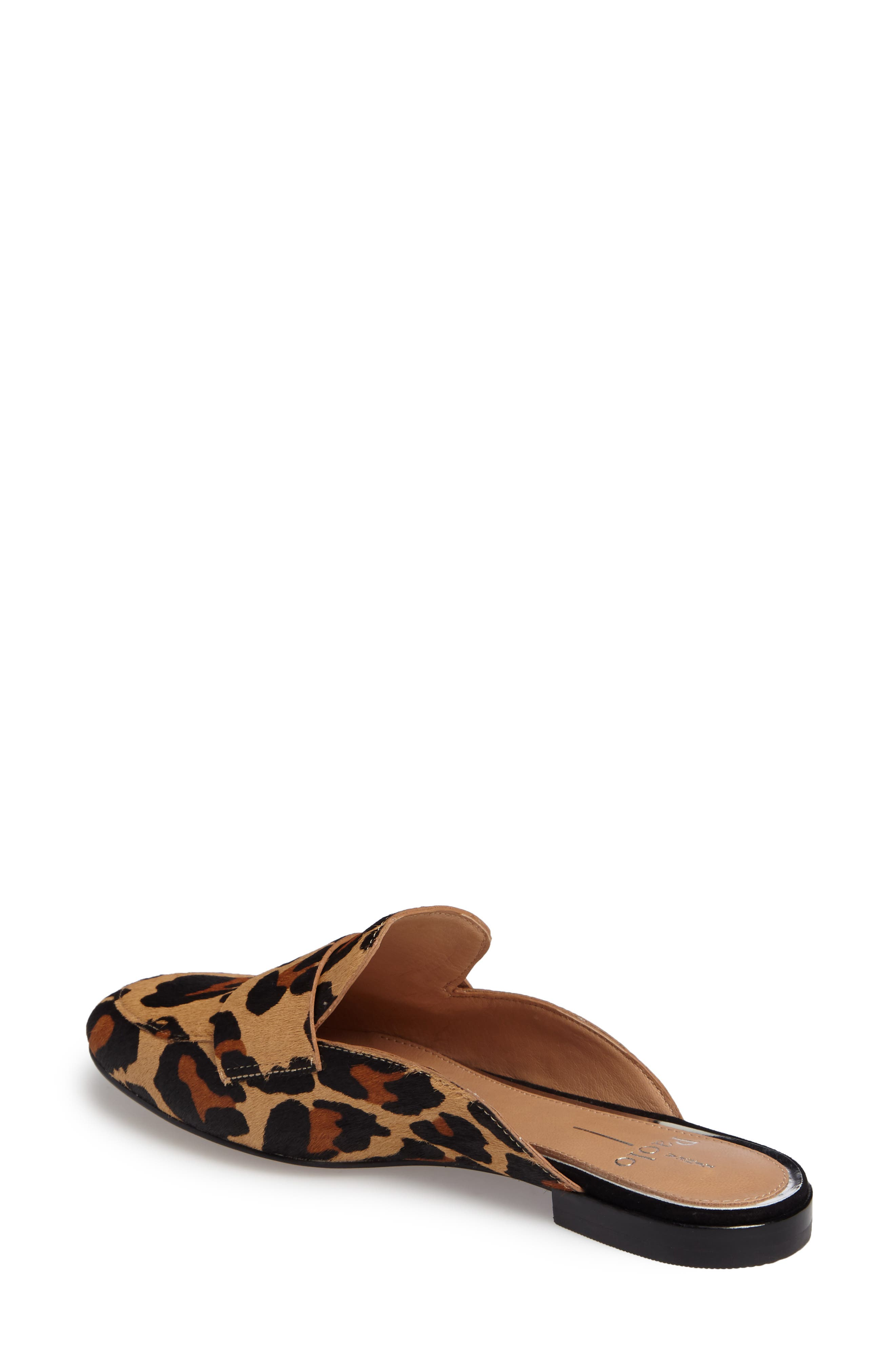 Annie Genuine Calf Hair Loafer Mule,                             Alternate thumbnail 2, color,                             COGNAC/ BLACK CALF HAIR