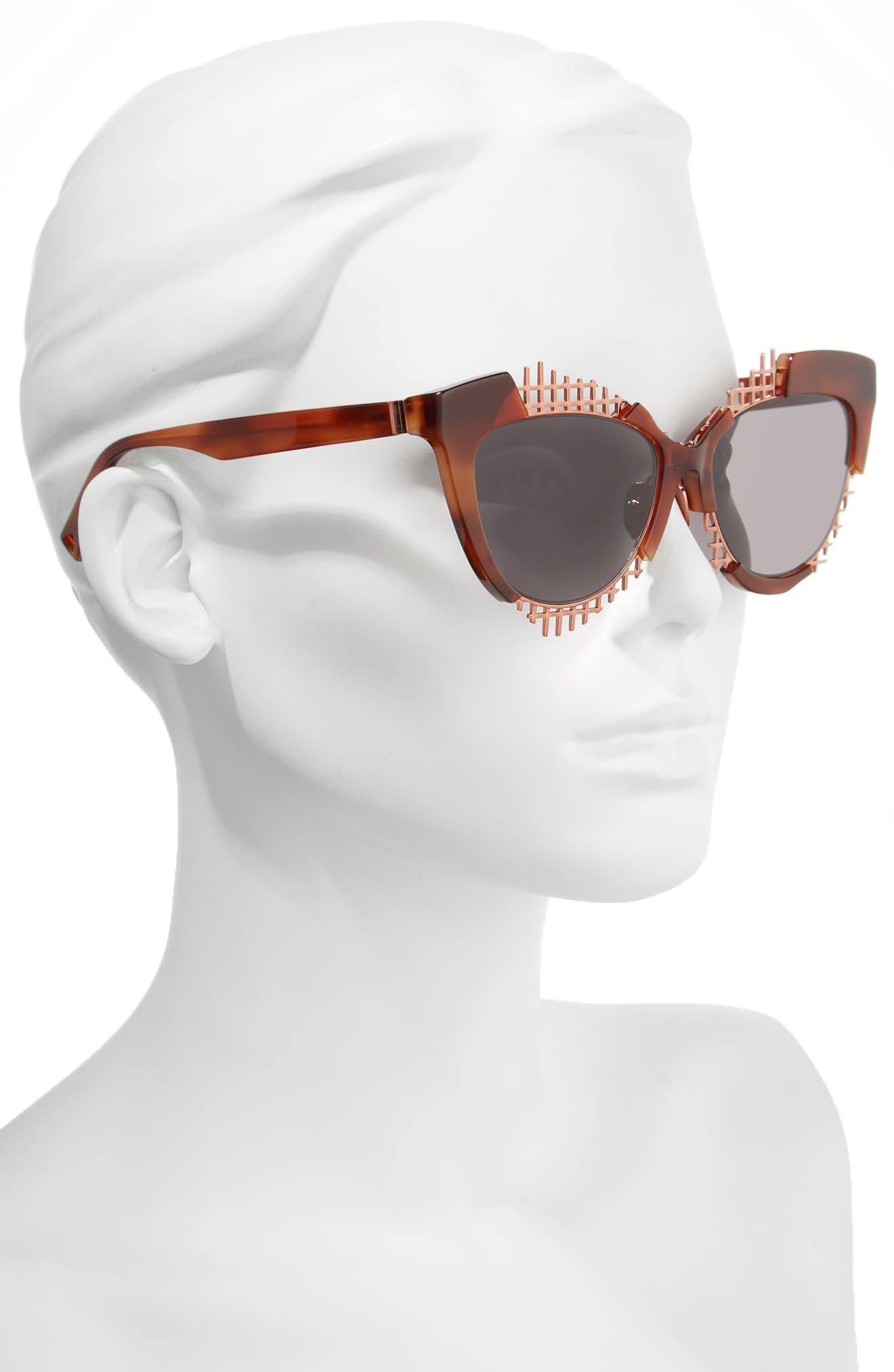 Voz 55mm Cat Eye Sunglasses,                             Alternate thumbnail 6, color,