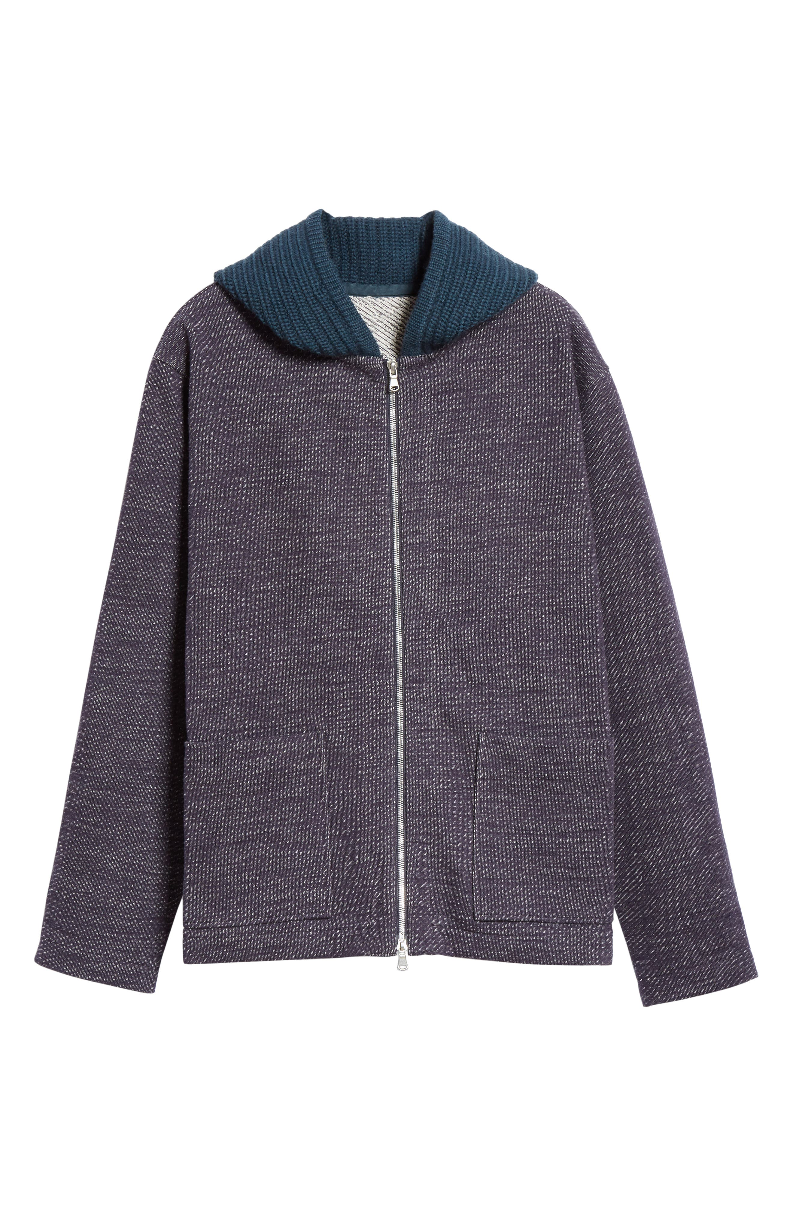 Hooded Cardigan,                             Alternate thumbnail 6, color,                             NAVY