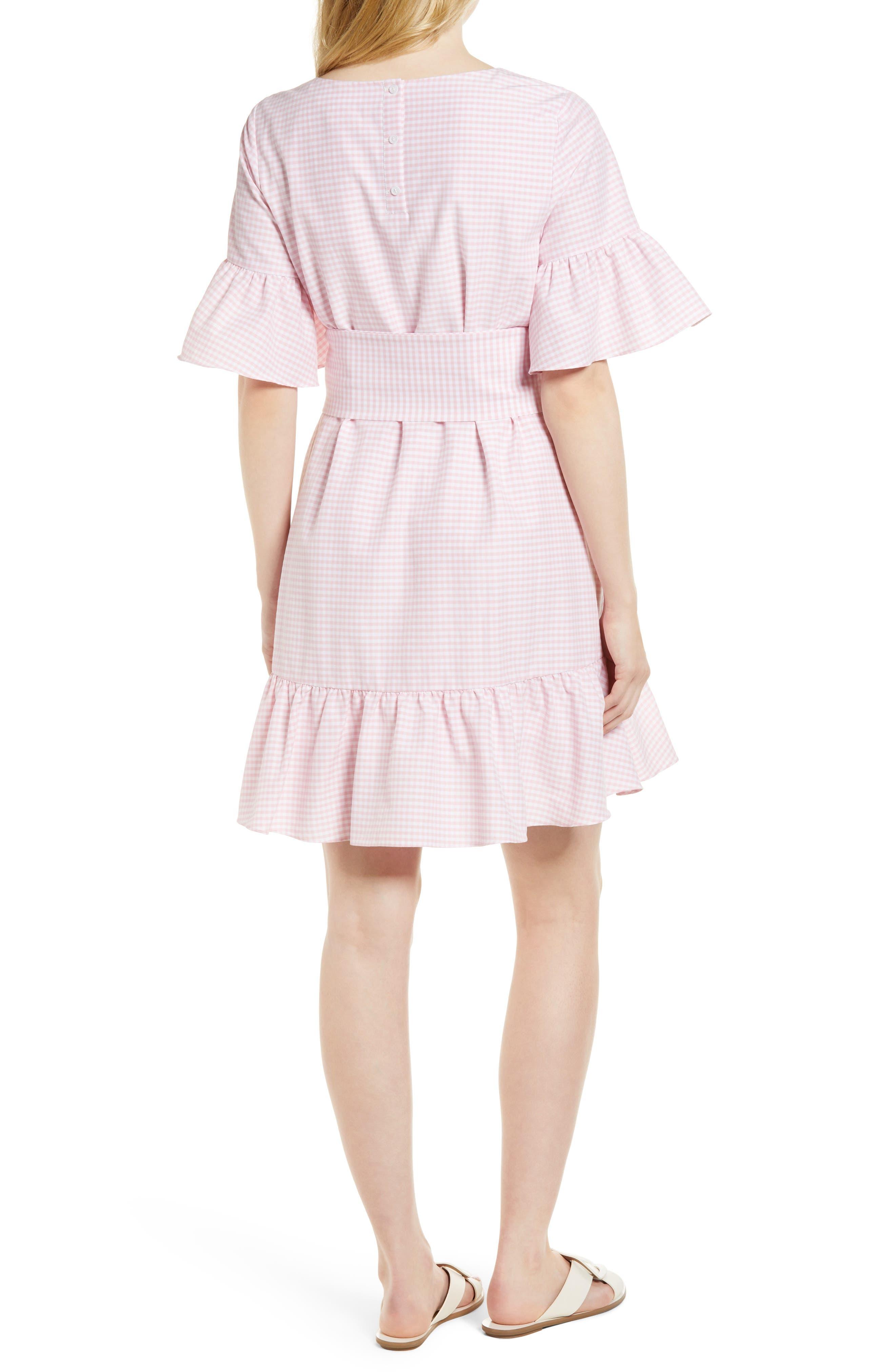 Ruffle & Bow Dress,                             Alternate thumbnail 6, color,