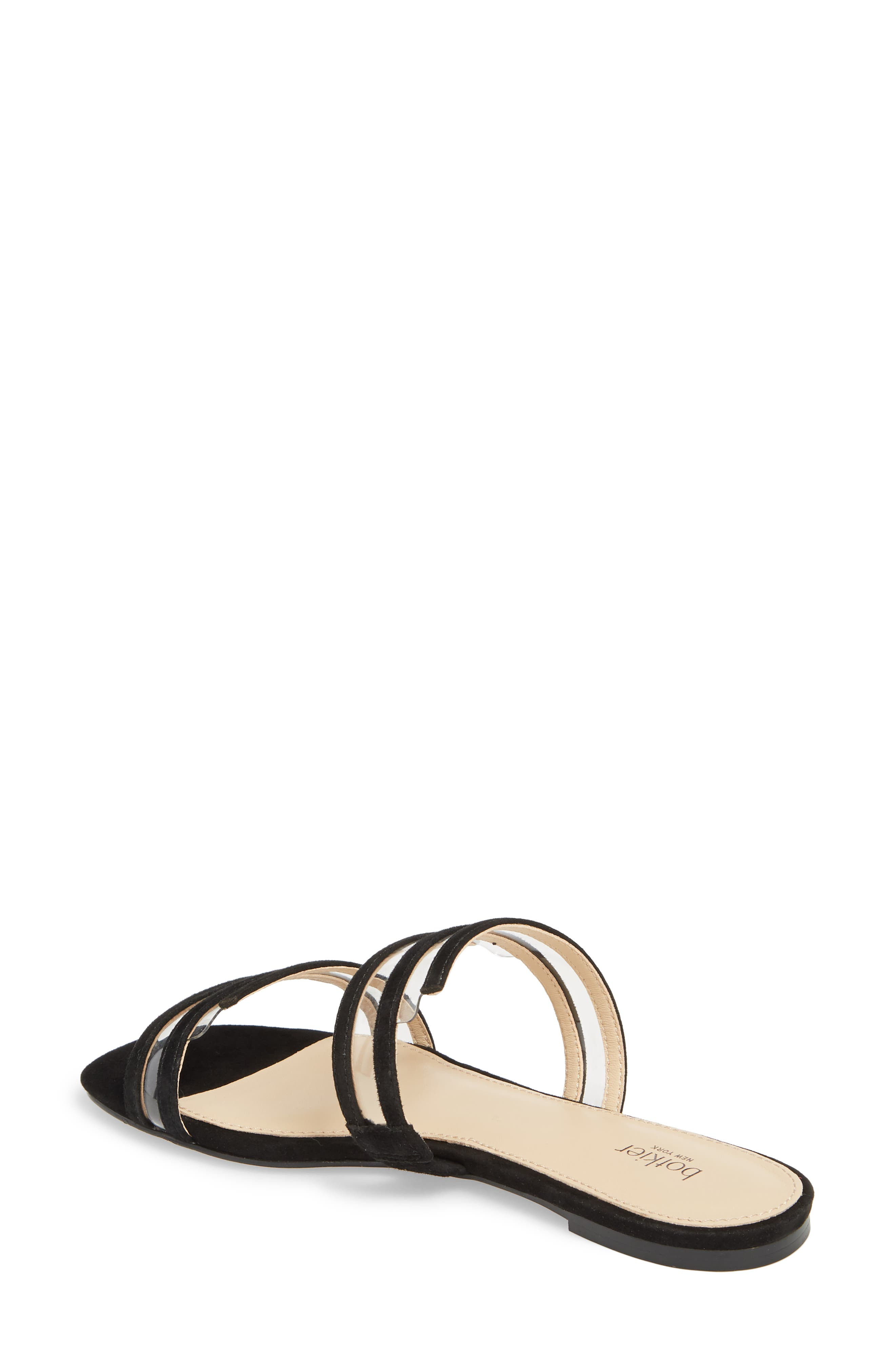 Maise Slide Sandal,                             Alternate thumbnail 2, color,                             BLACK SUEDE