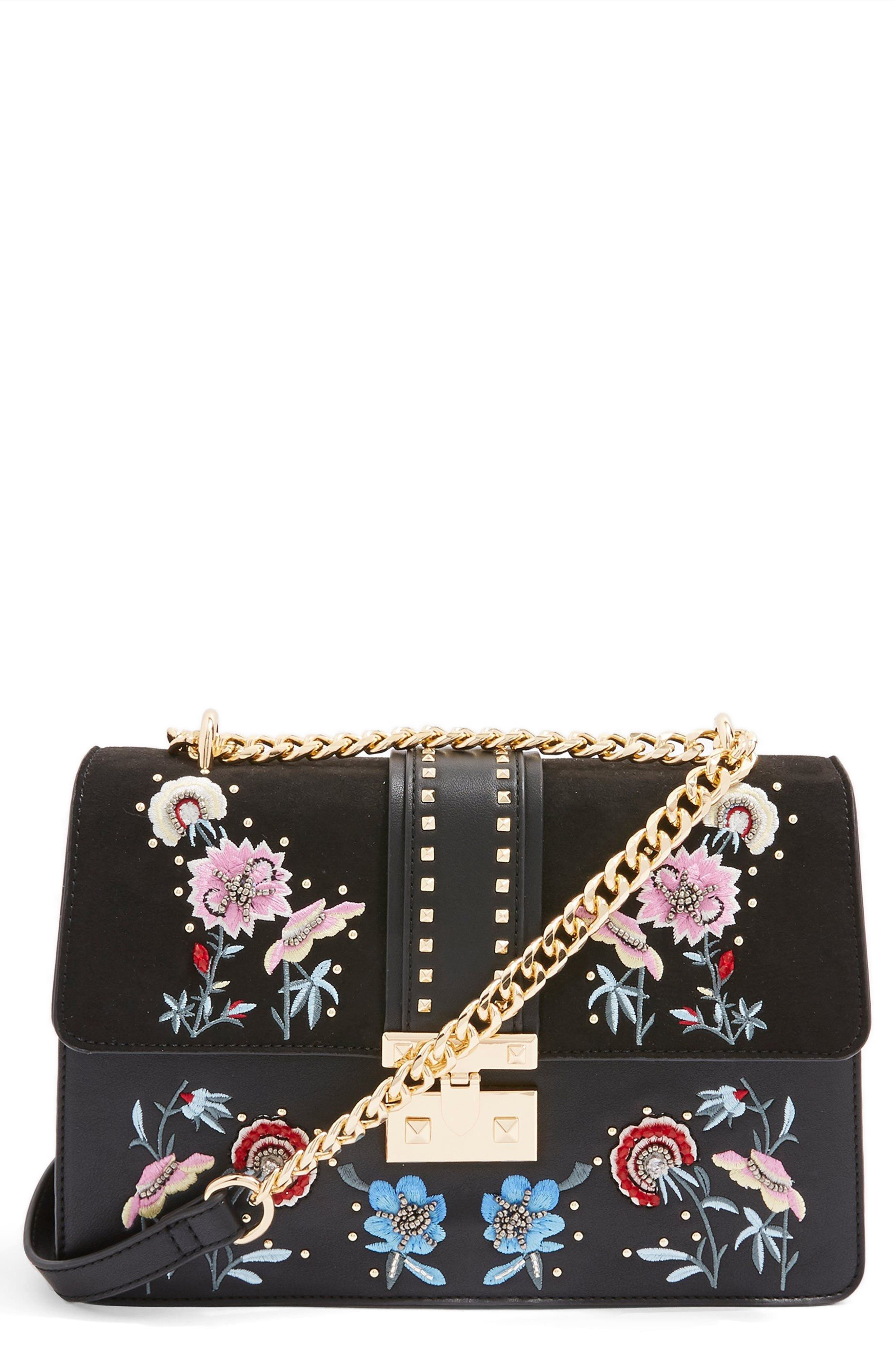 Darcy Floral Shoulder Bag,                             Main thumbnail 1, color,                             001