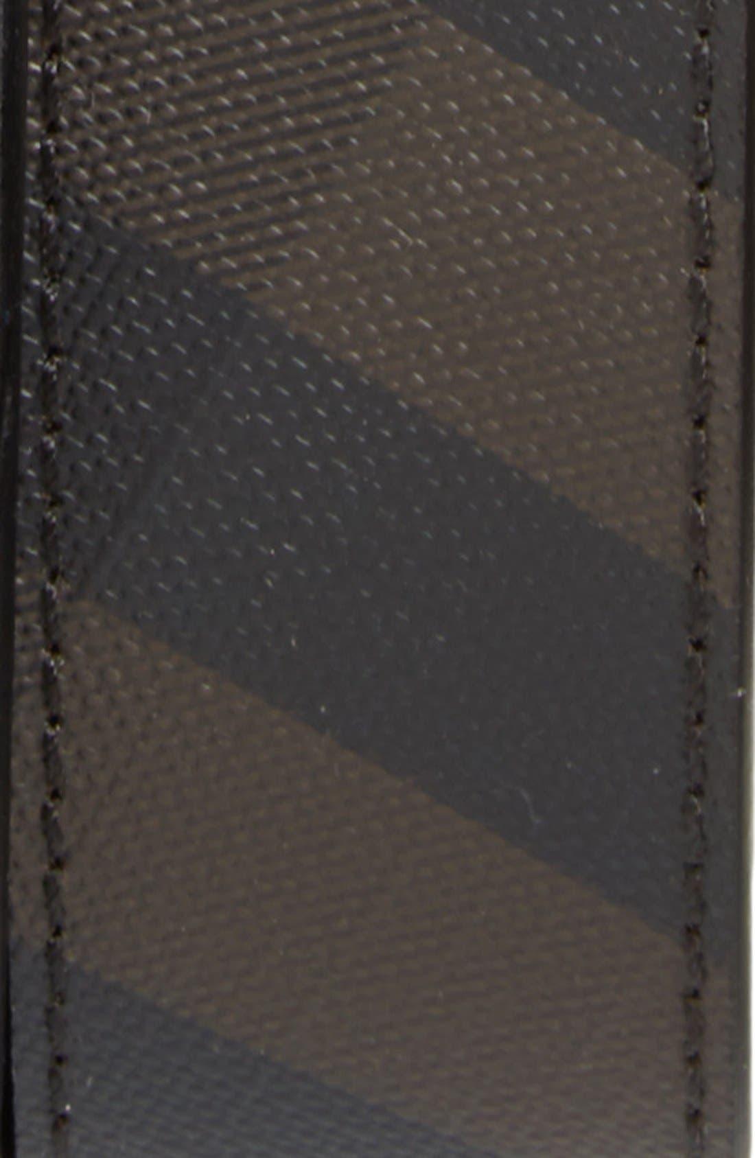 'Joel' Check Pattern Belt,                             Alternate thumbnail 2, color,                             BLACK