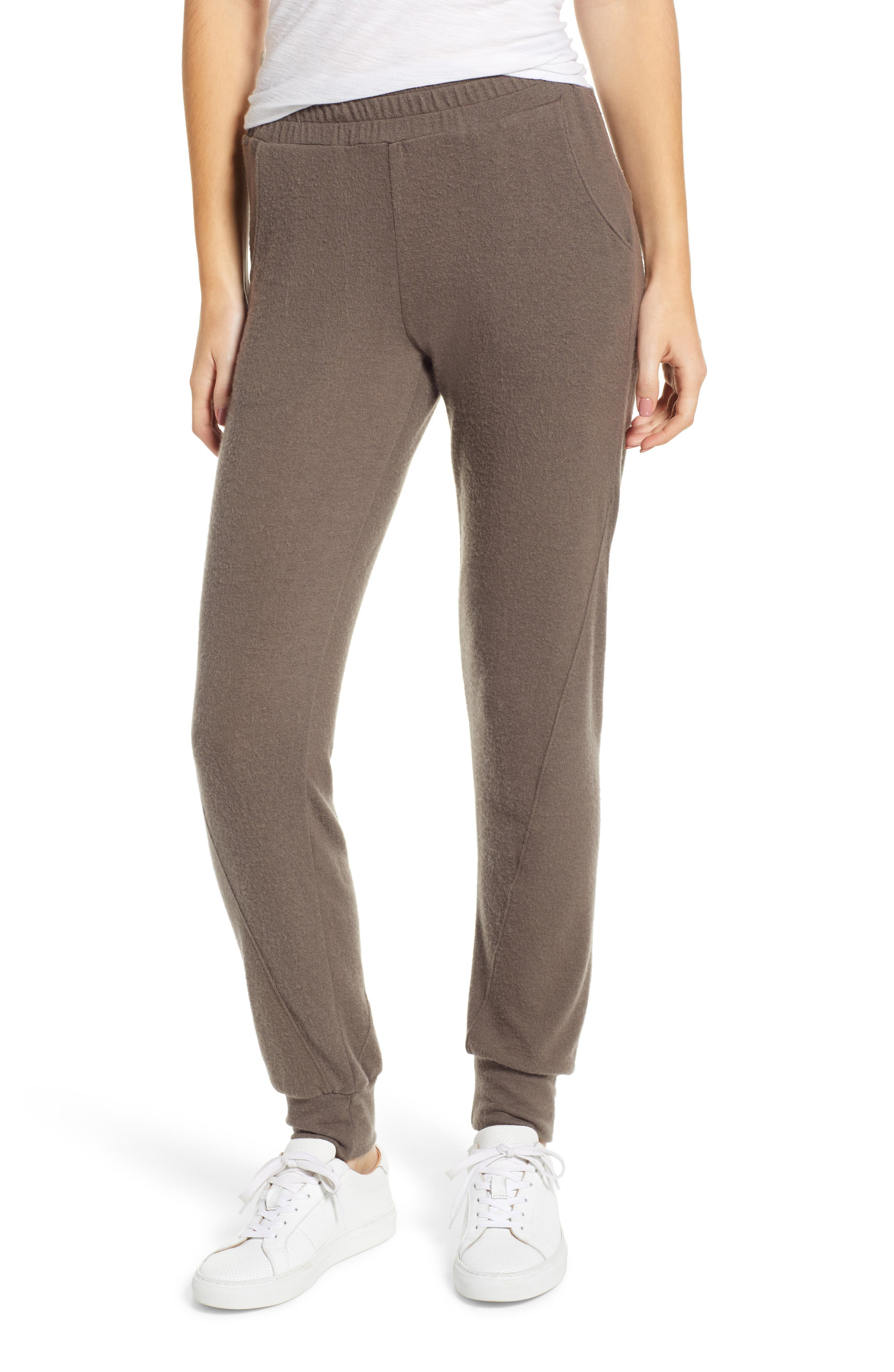 PROJECT SOCIAL T Calhoun Cozy Seamed Sweatpants in Olive