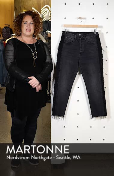 W3 Cora Side Fray Crop Straight Leg Jeans, sales video thumbnail