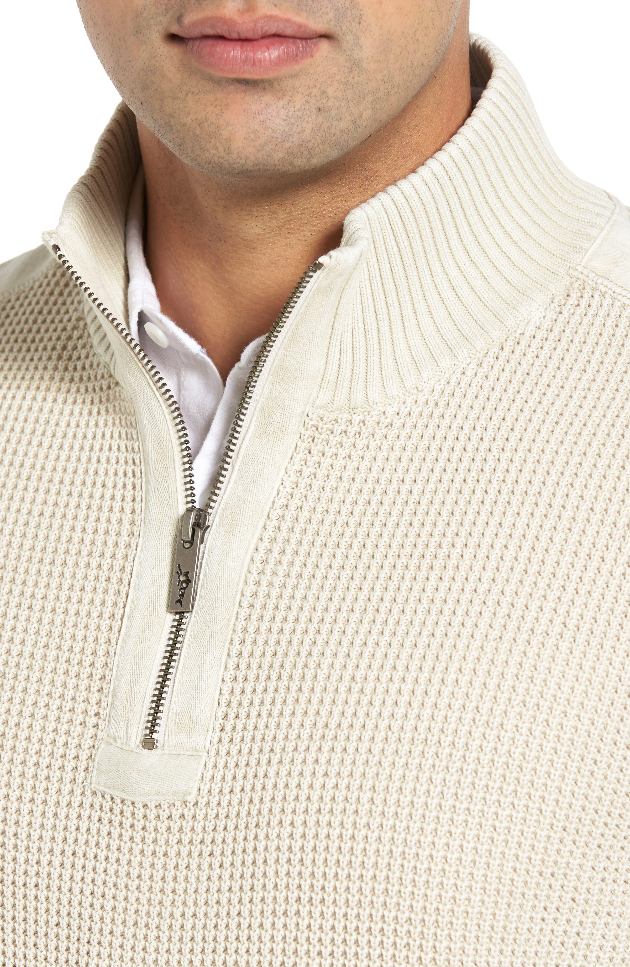 'Coastal Shores' Quarter Zip Sweater,                             Alternate thumbnail 33, color,