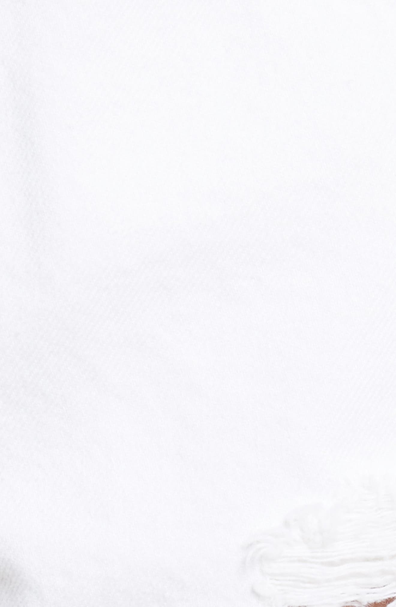 Helena High Waist Denim Shorts,                             Alternate thumbnail 6, color,                             100