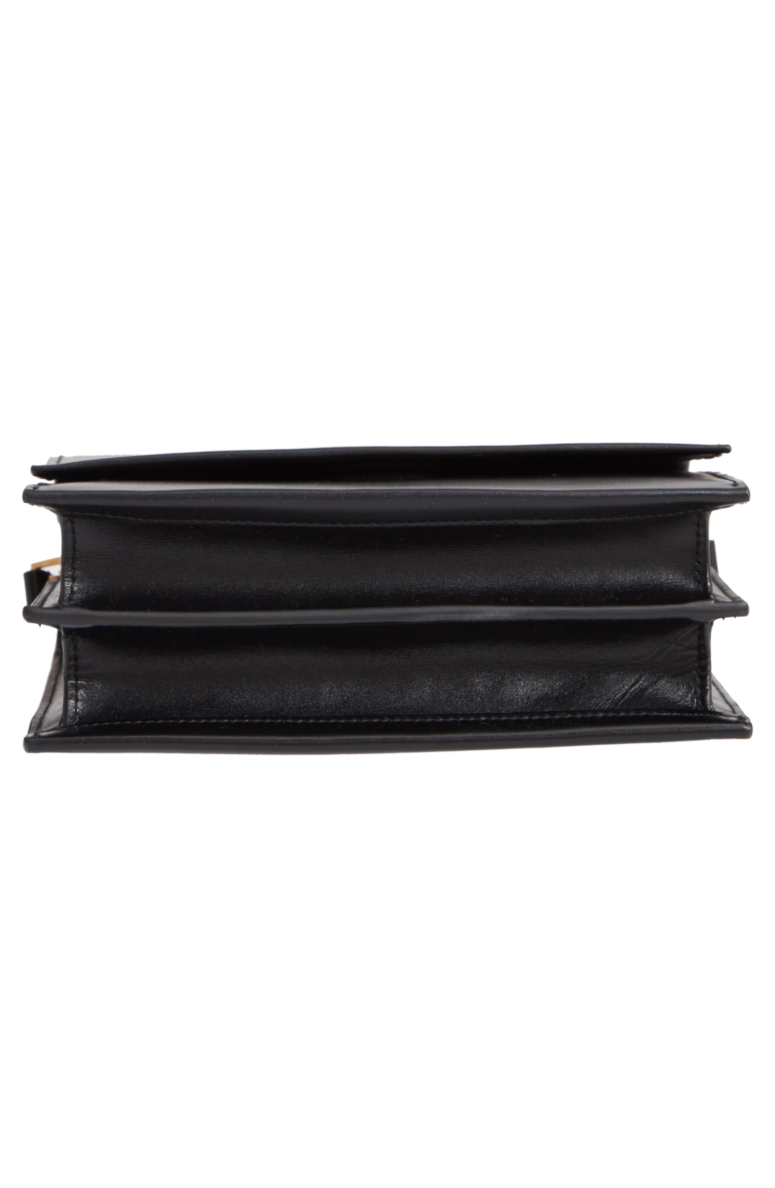 Sao Leather Shoulder Bag,                             Alternate thumbnail 6, color,                             NOIR