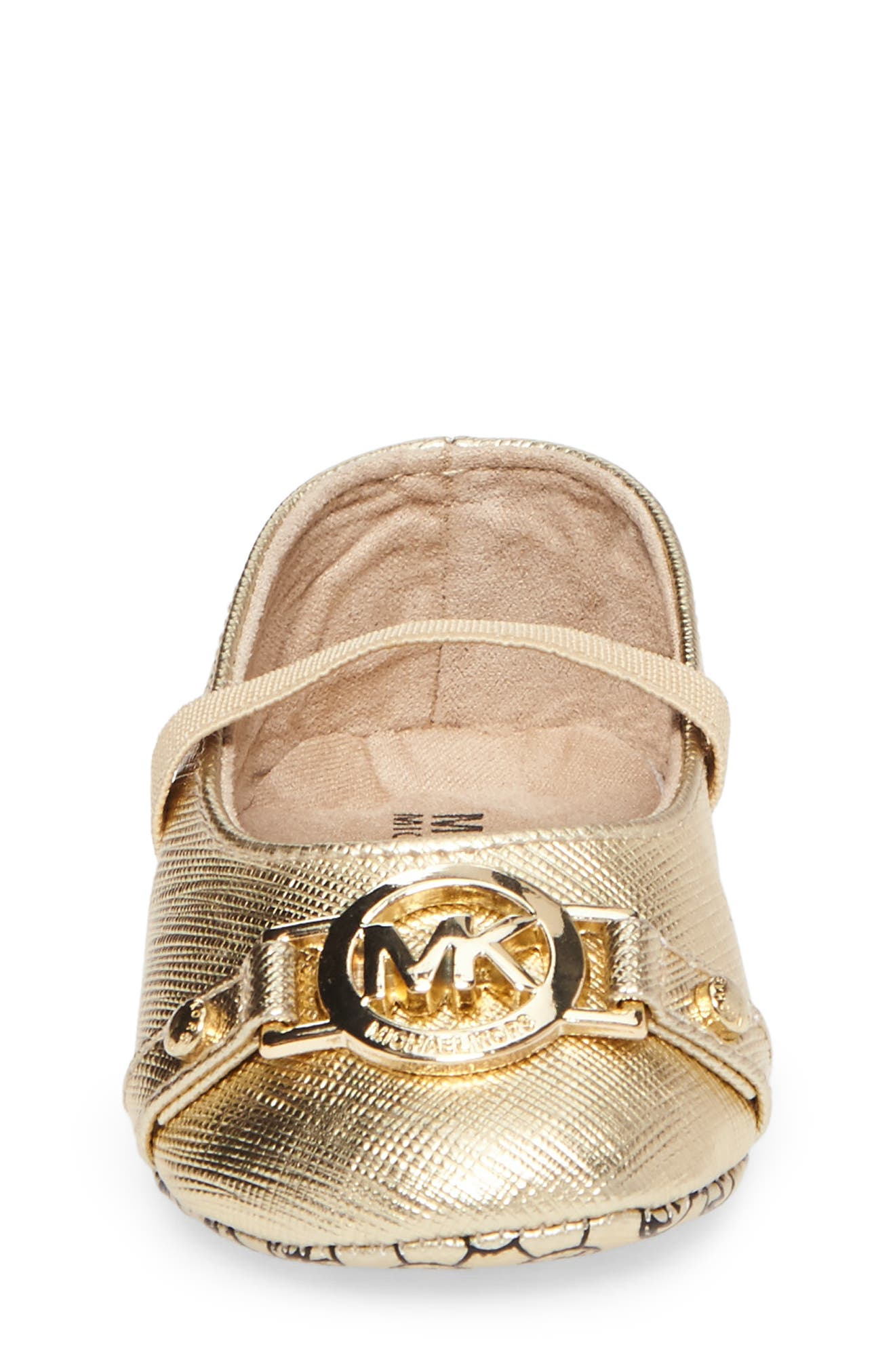 Baby Giby Mary Jane Slipper,                             Alternate thumbnail 4, color,                             GOLD