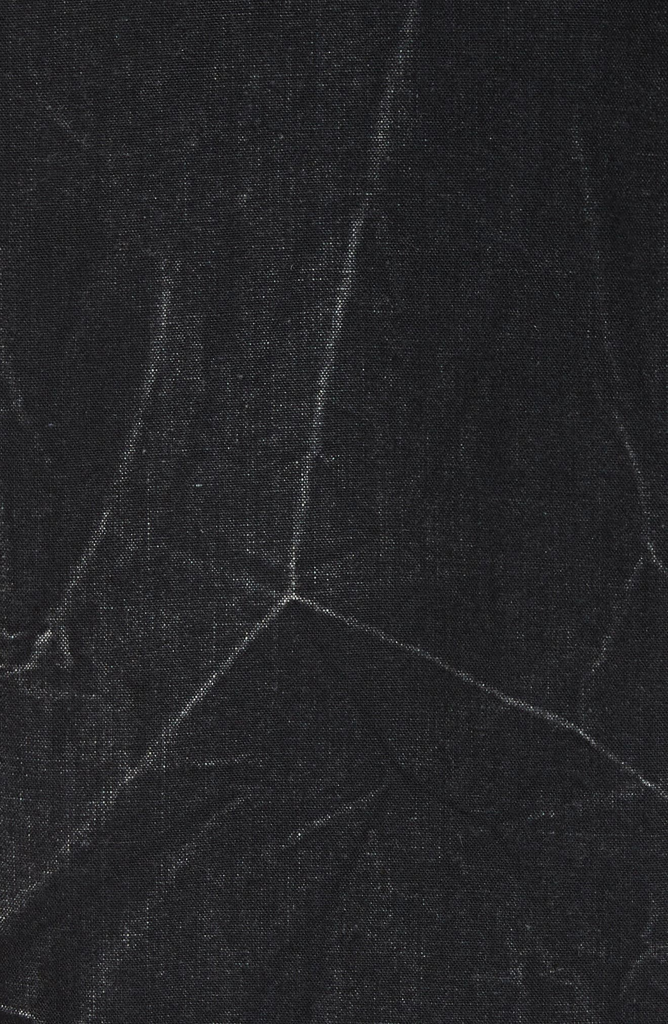 Denim Shirt,                             Alternate thumbnail 5, color,                             BLACK/ GREY