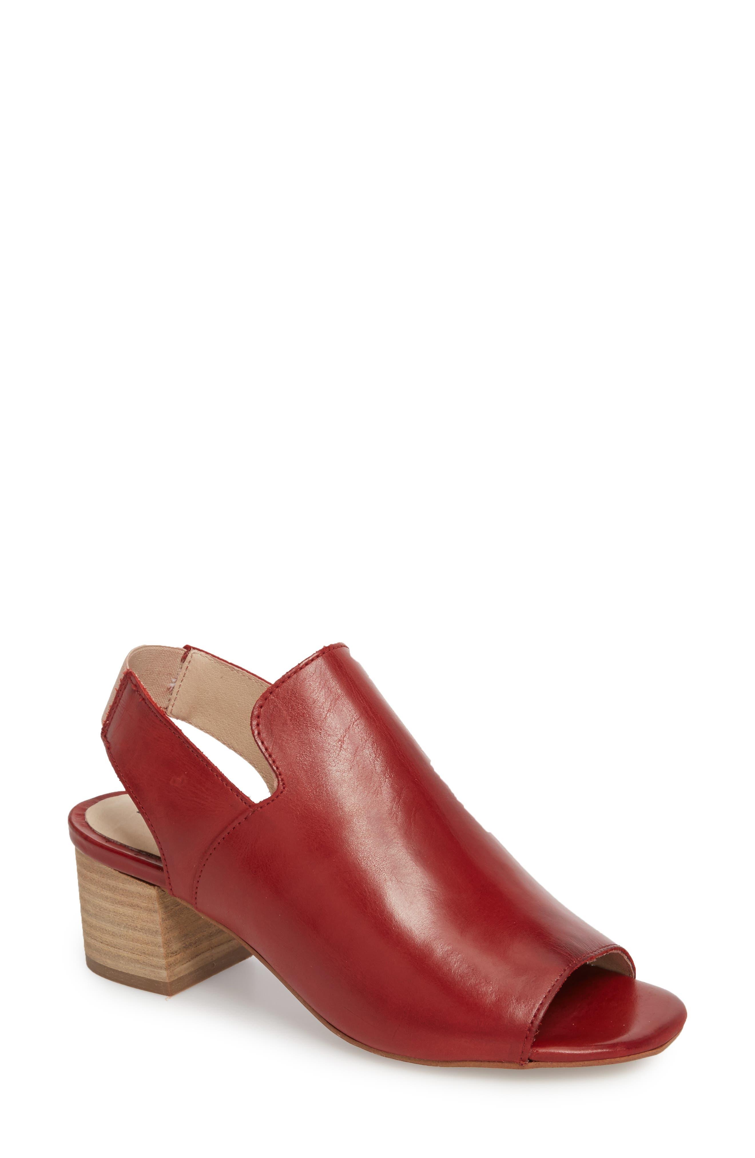 Bos. & Co. Zaire Slingback Sandal - Red
